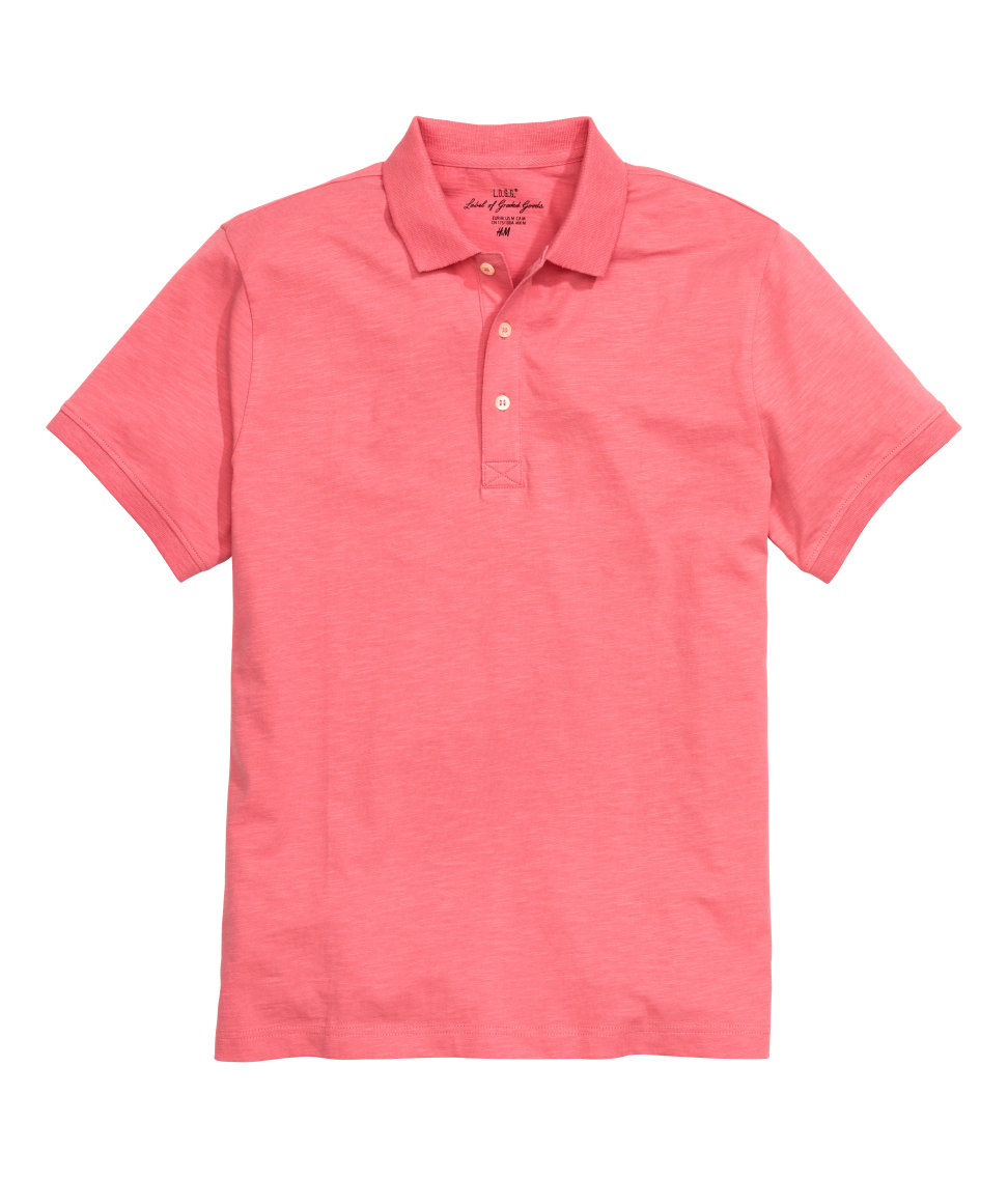 H m polo shirt in red for men lyst for H m polo shirt mens