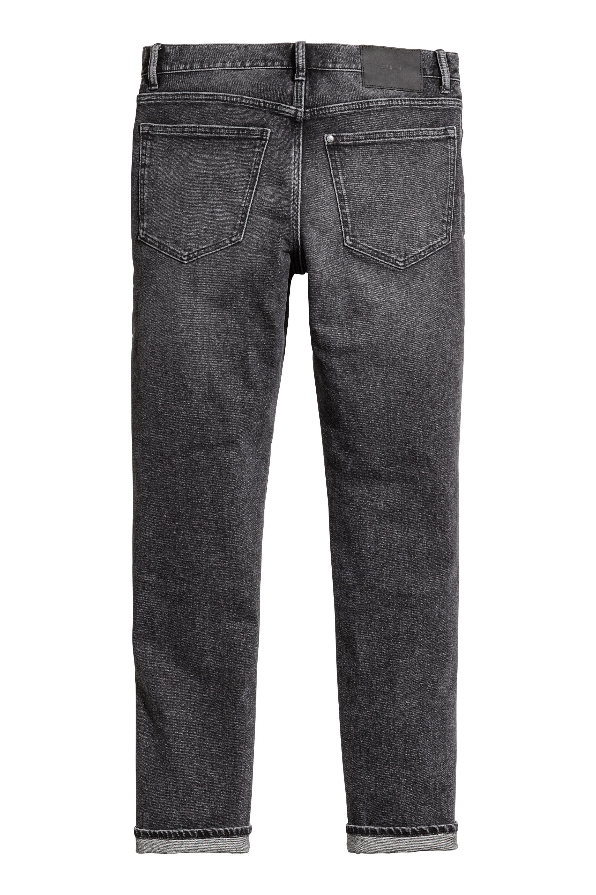 H&M Denim Relaxed Skinny Jeans in Grey for Men