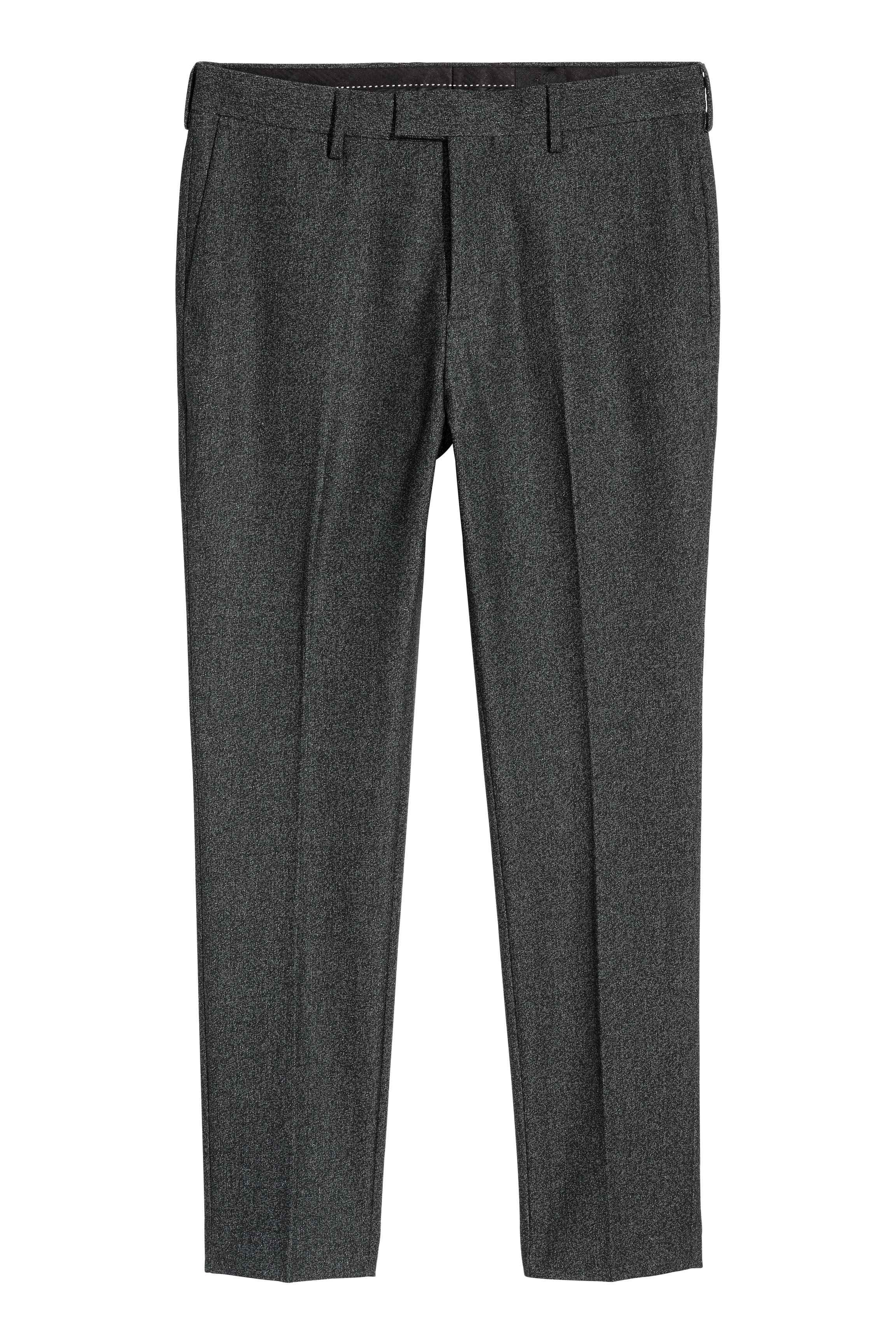 H&M Synthetic Suit Trousers Skinny Fit in Dark Grey Marl (Grey) for Men