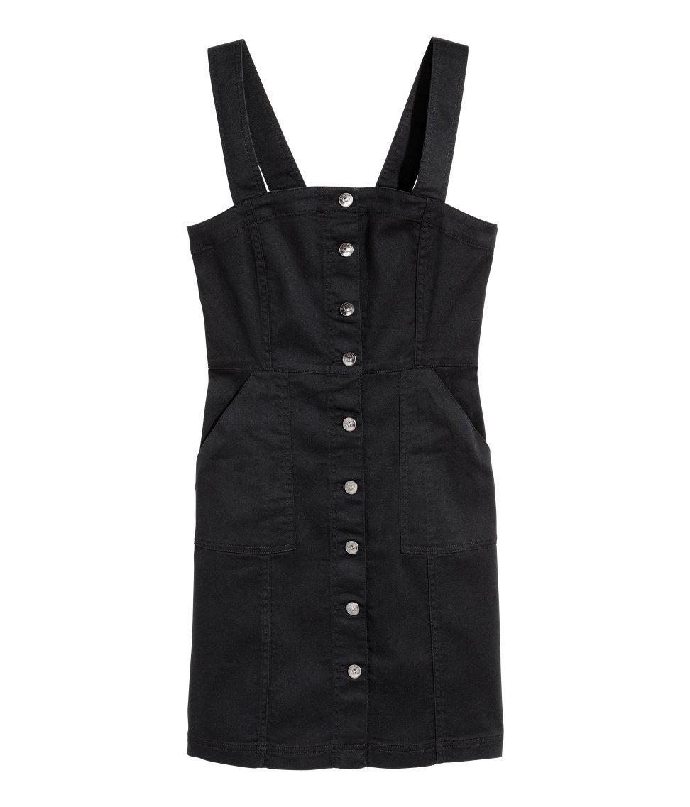 H Amp M Denim Dress In Black Lyst