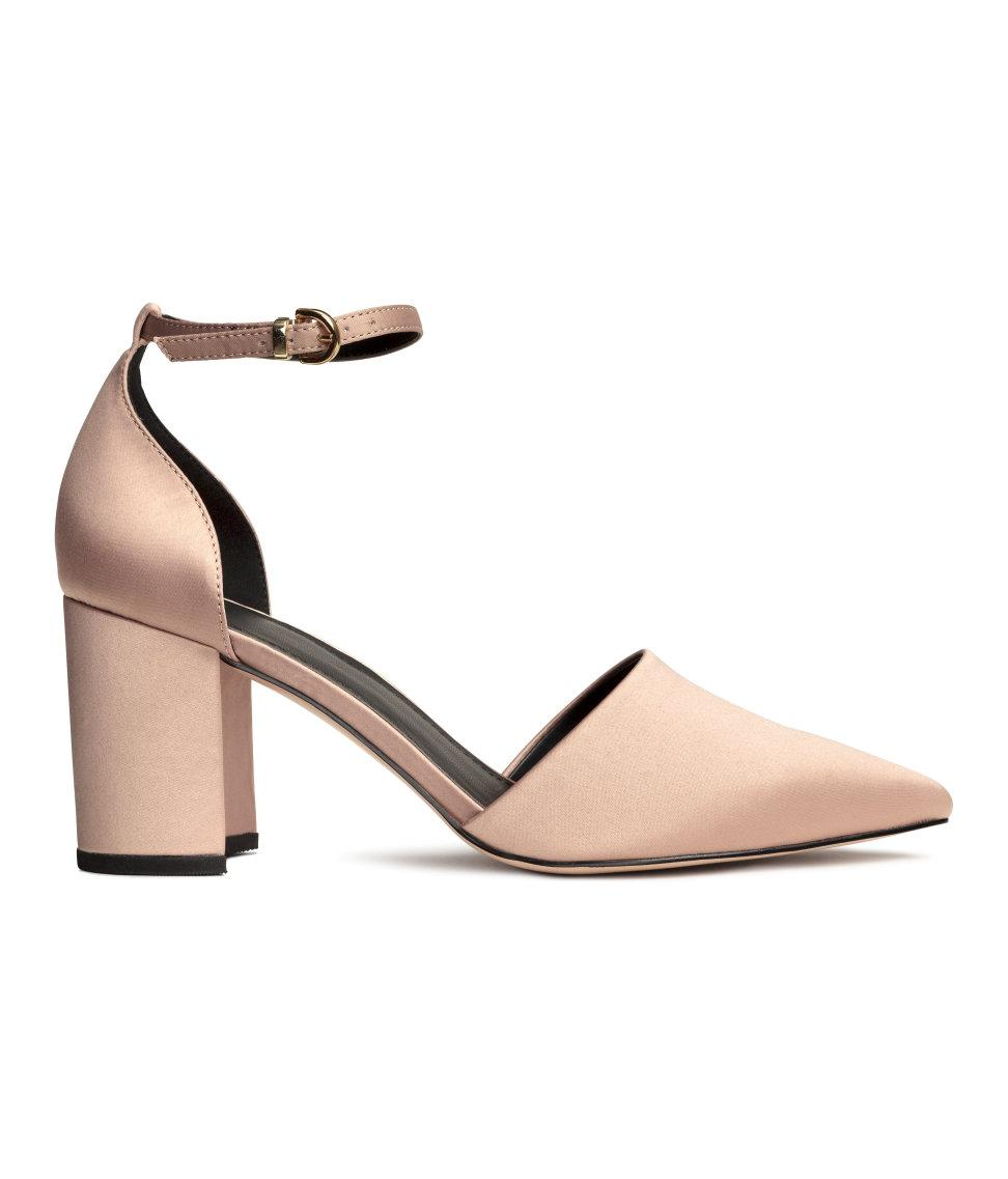 h m open sided court shoes in lyst