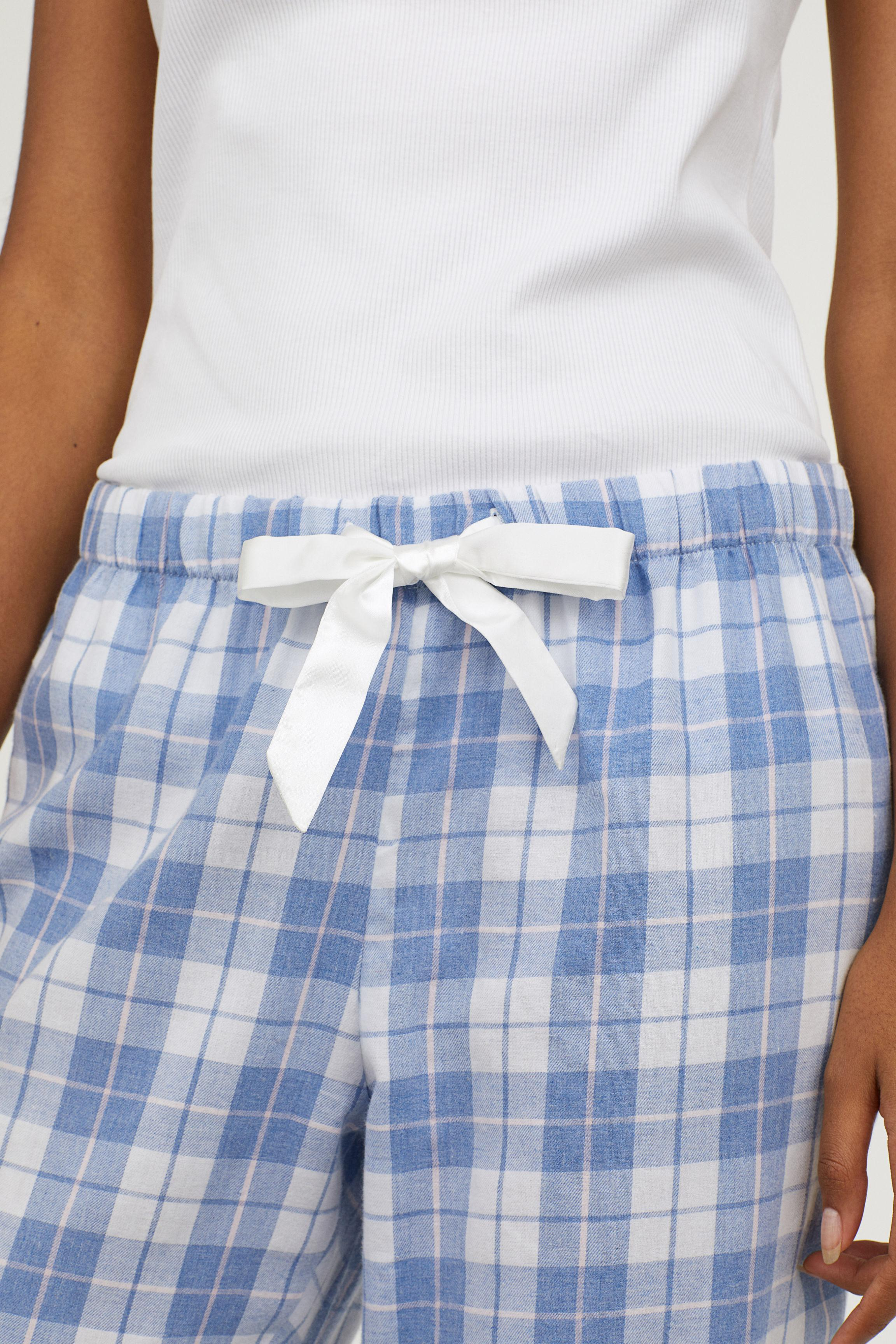 13af510960b57 Lyst - H M Flannel Pyjama Bottoms in Blue