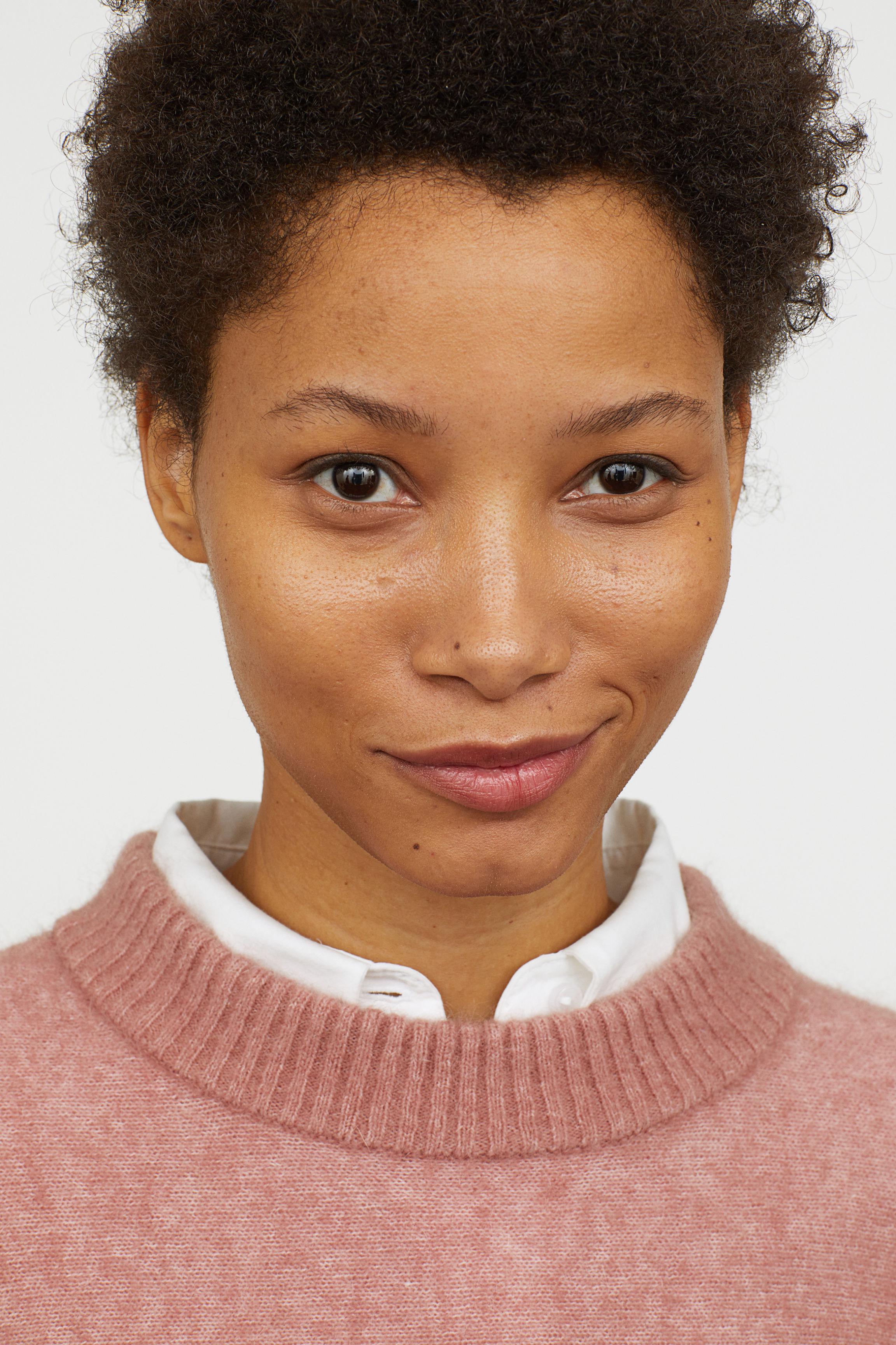 63deef0174e5e H M Knit Mohair-blend Sweater in Pink - Lyst