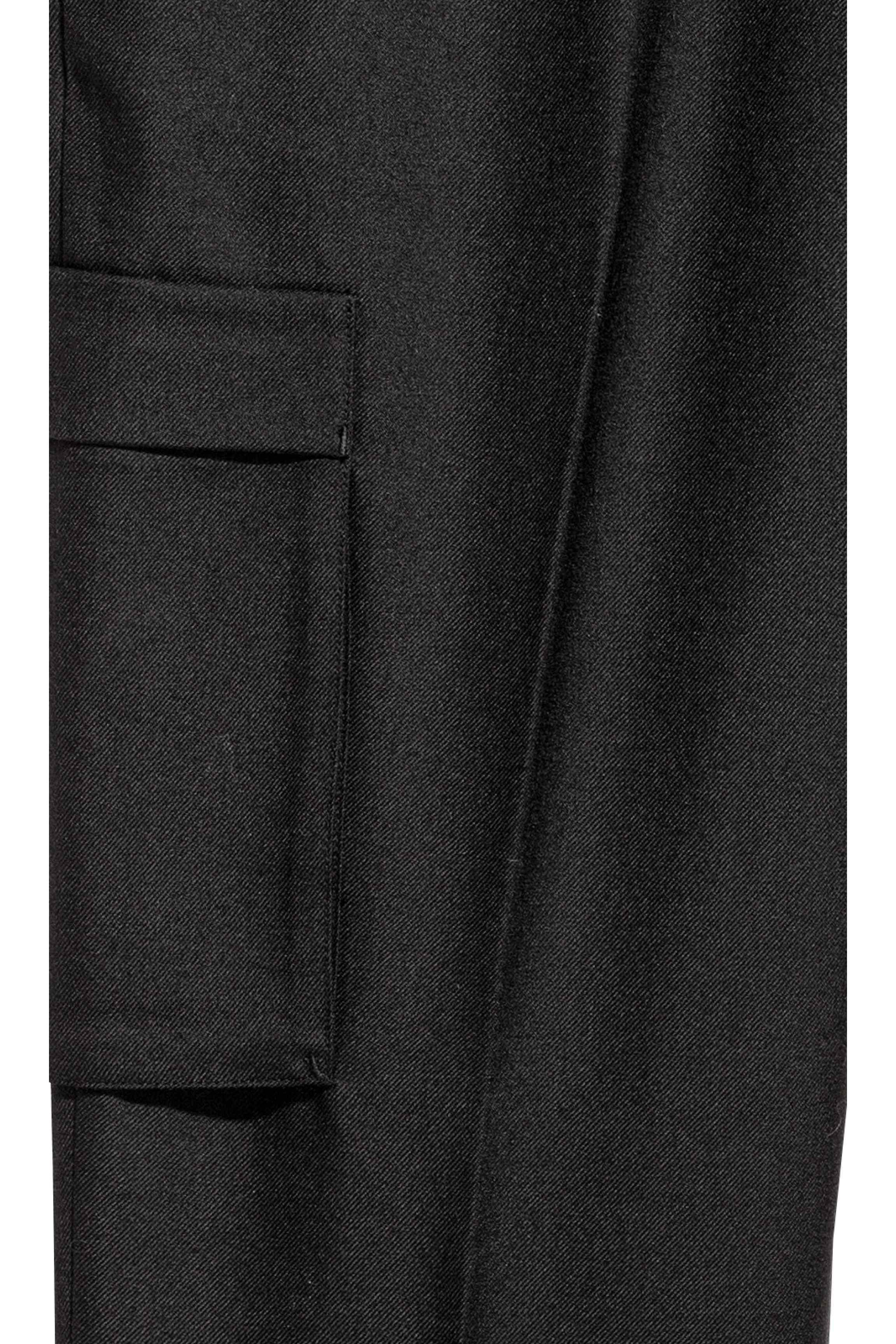H&M Wool Suit Pants Slim Fit in Black for Men