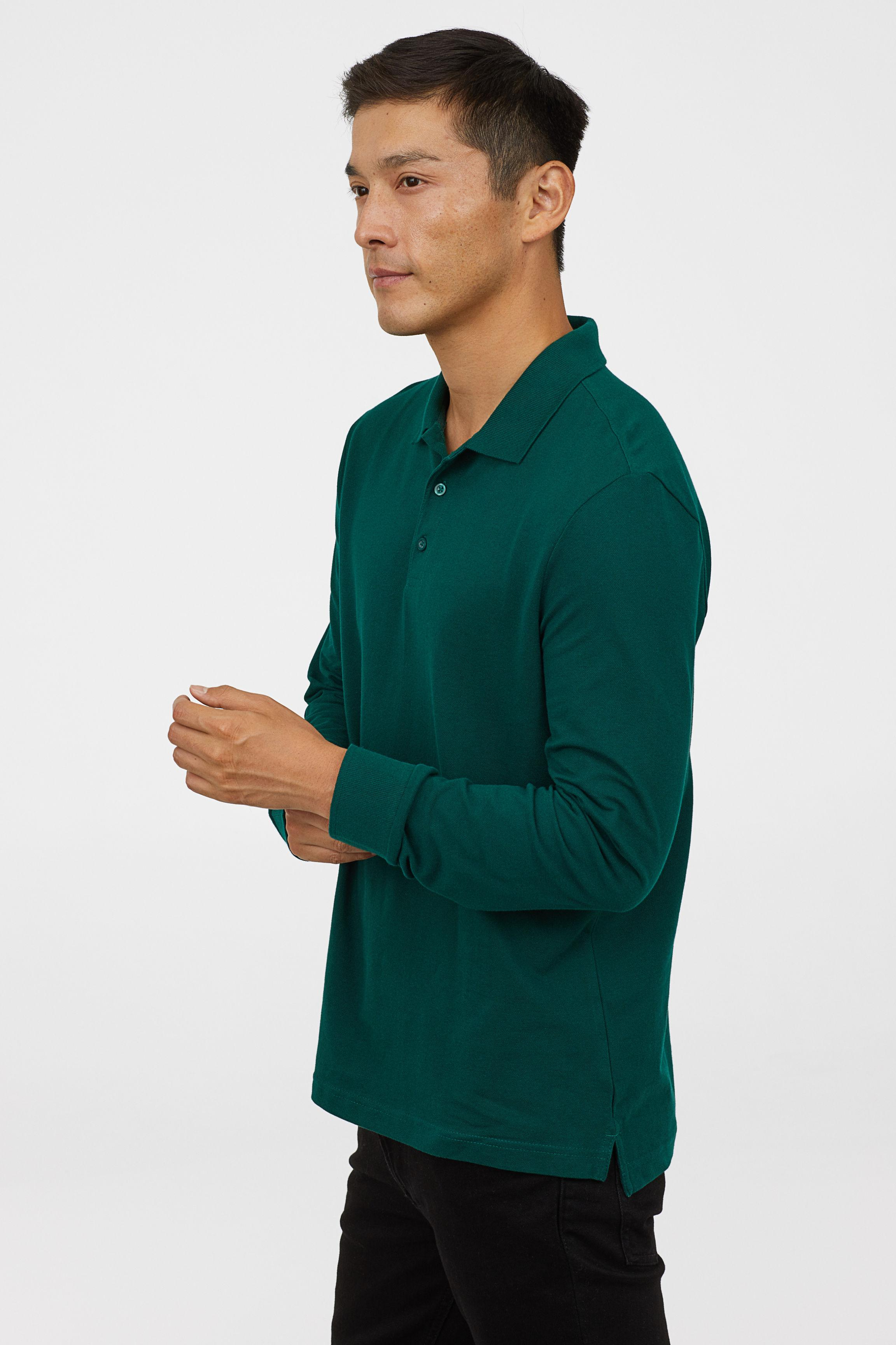 Lyst Hm Regular Fit Polo Shirt In Green For Men