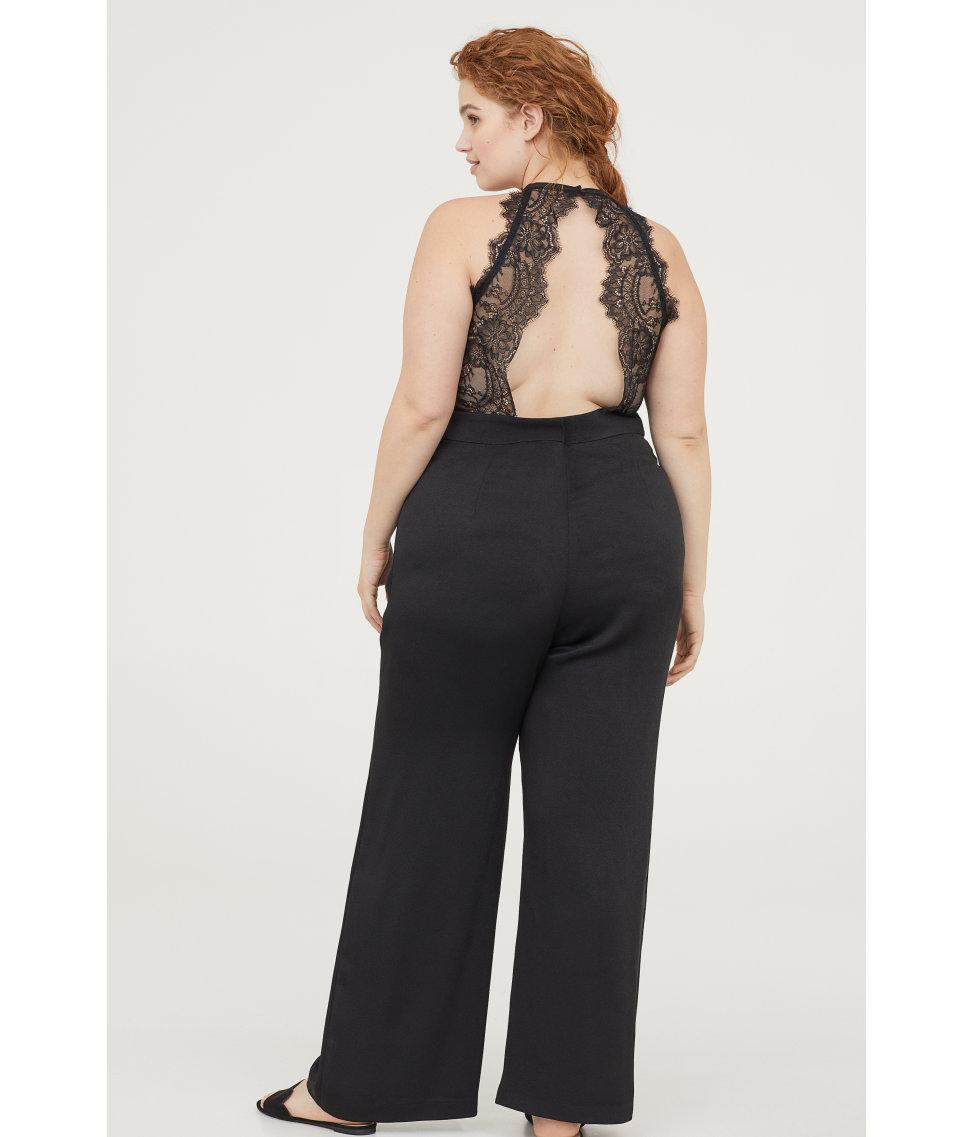 075f7fc854a Lyst - H M + Sleeveless Jumpsuit in Black