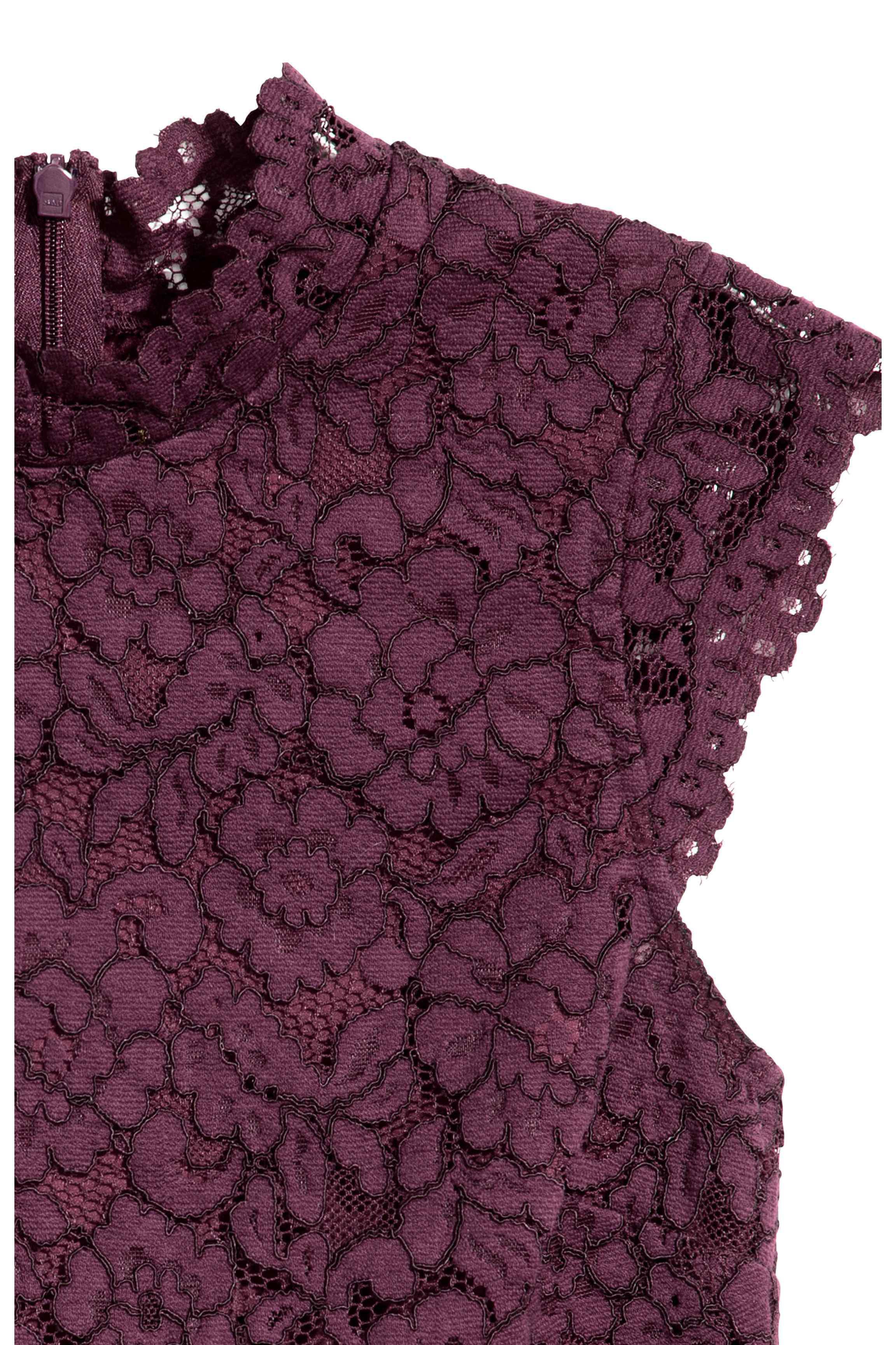 H&M Lace Top in Plum (Purple)