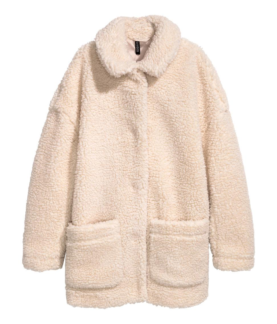Lyst H Amp M Pile Jacket In Natural