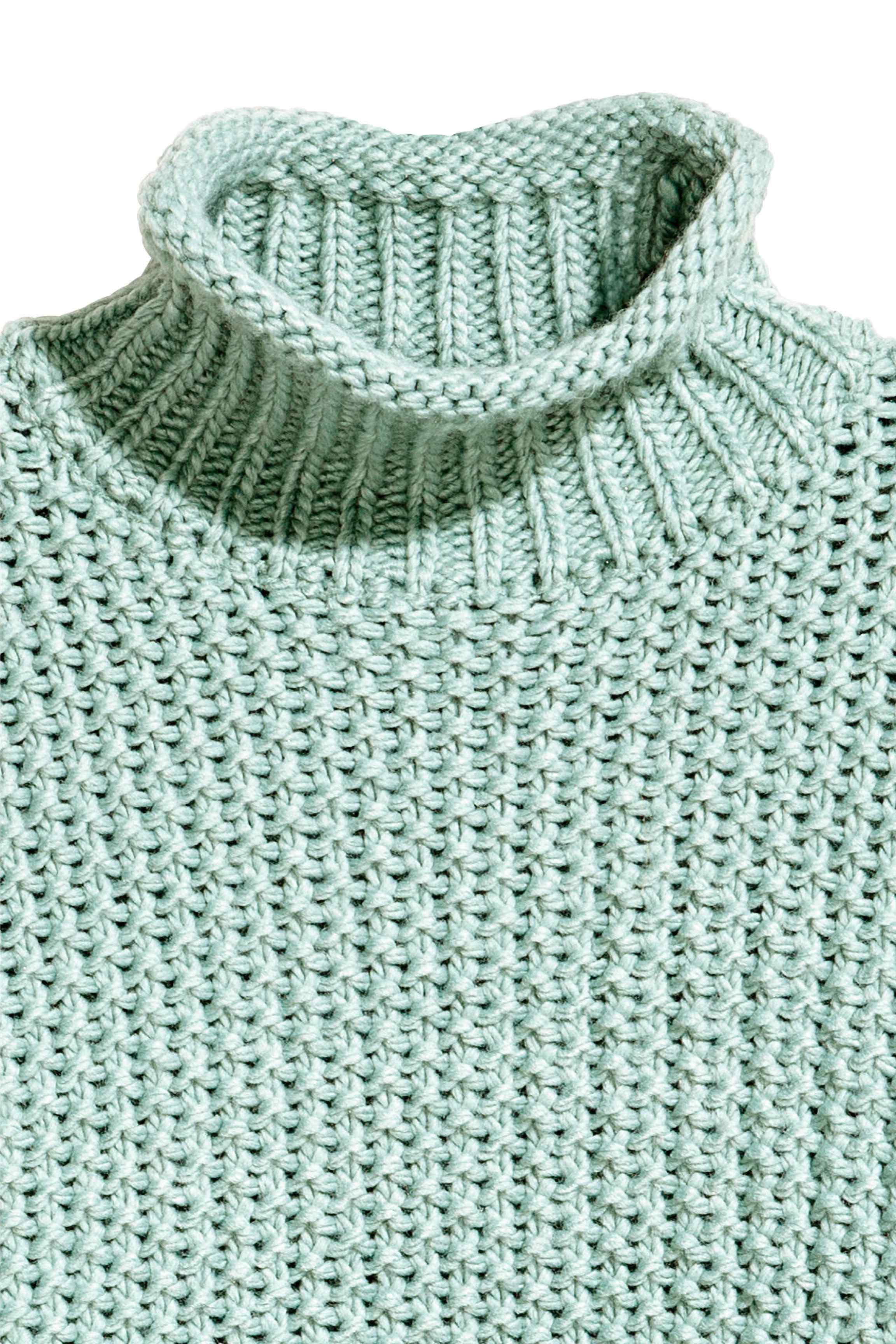 fdf449864ec H&M Green Chunky-knit Jumper