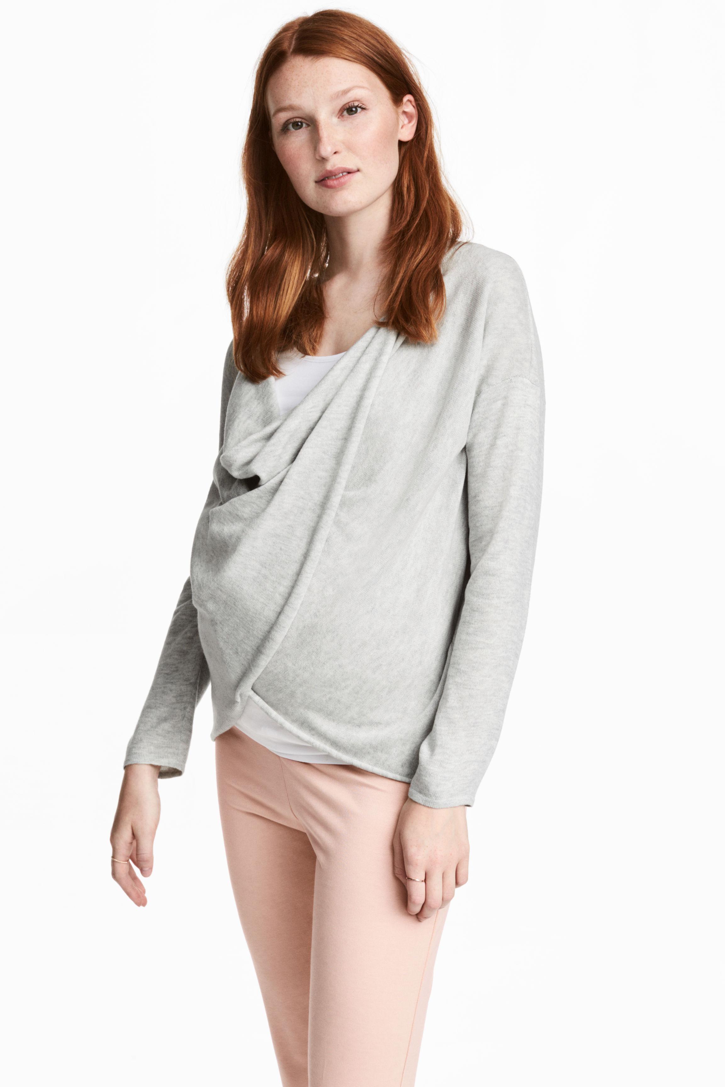 0a7621be74a43 H&M Mama Fine-knit Nursing Jumper in Gray - Lyst