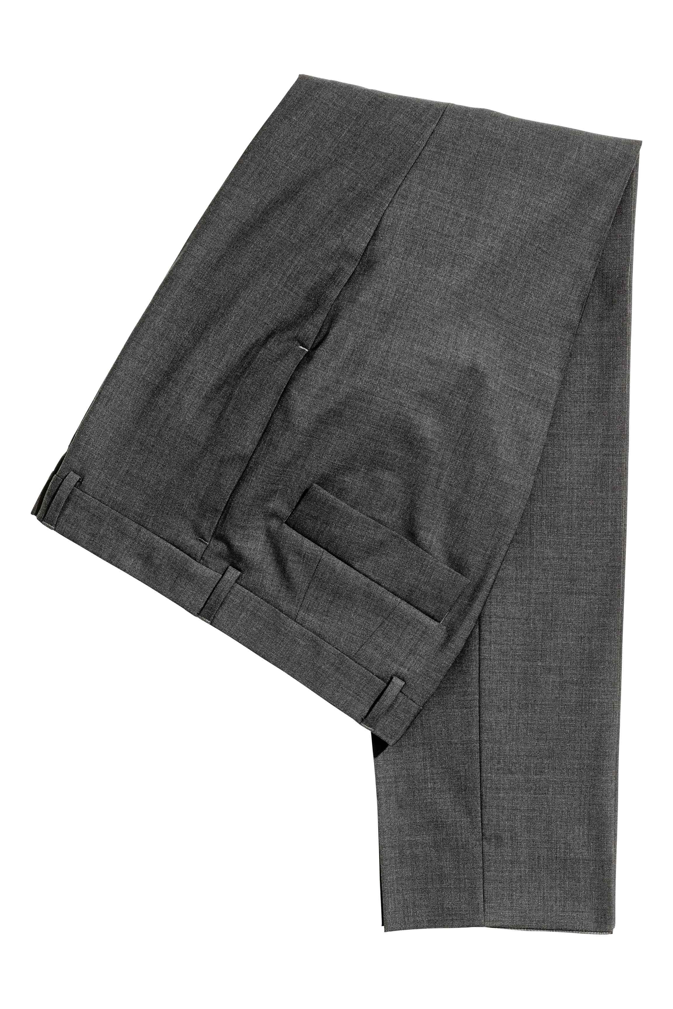 H&M Wool Suit Trousers Slim Fit in Dark Grey (Grey) for Men