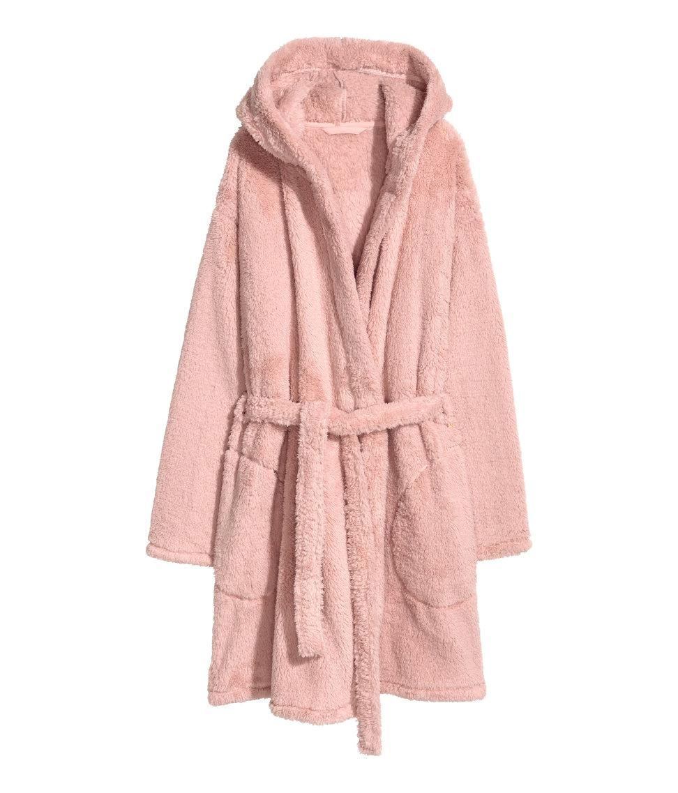 Lyst - H&M Fleece Dressing Gown in Pink