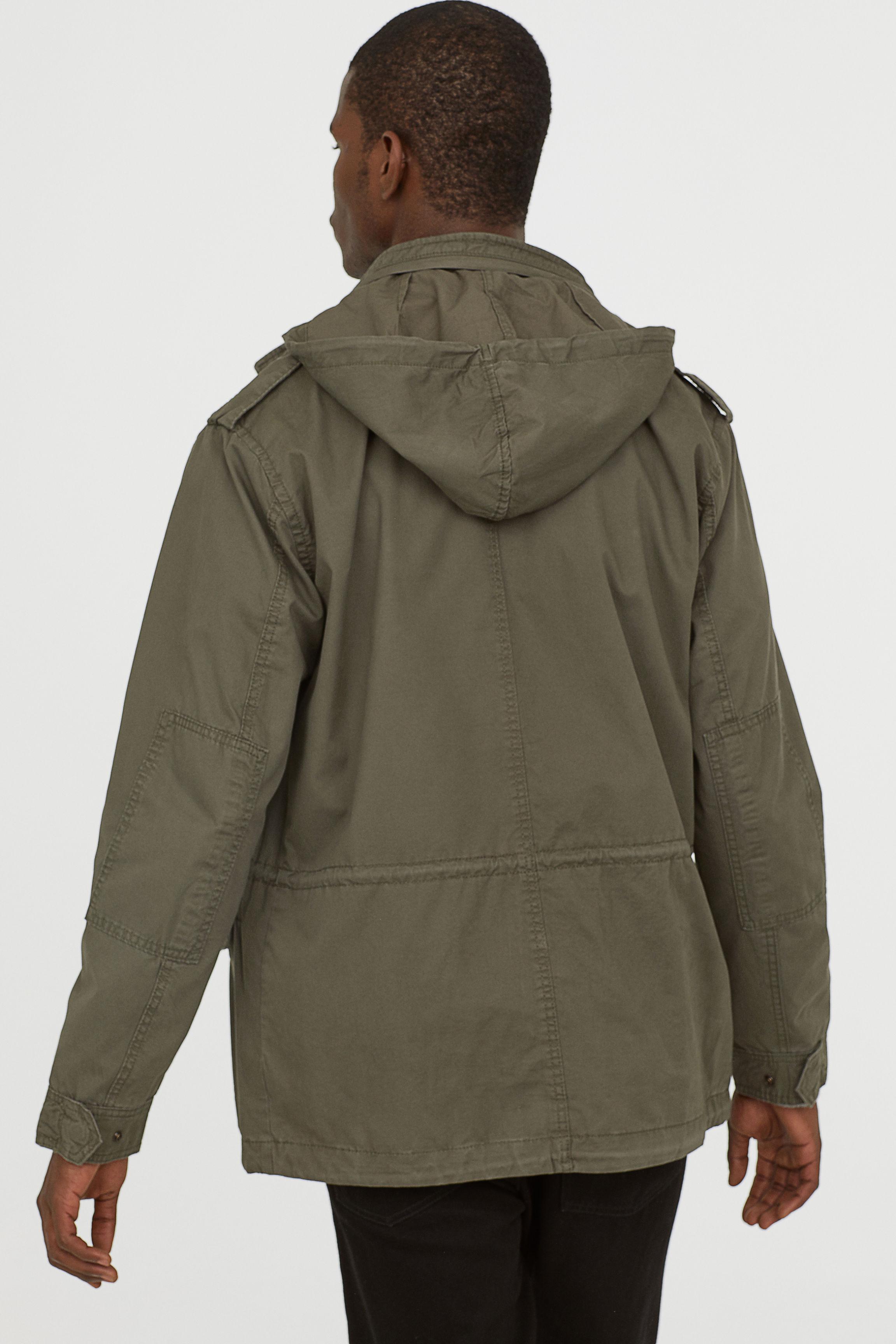 84a6cfec71c H&M Green Cotton Jacket for men