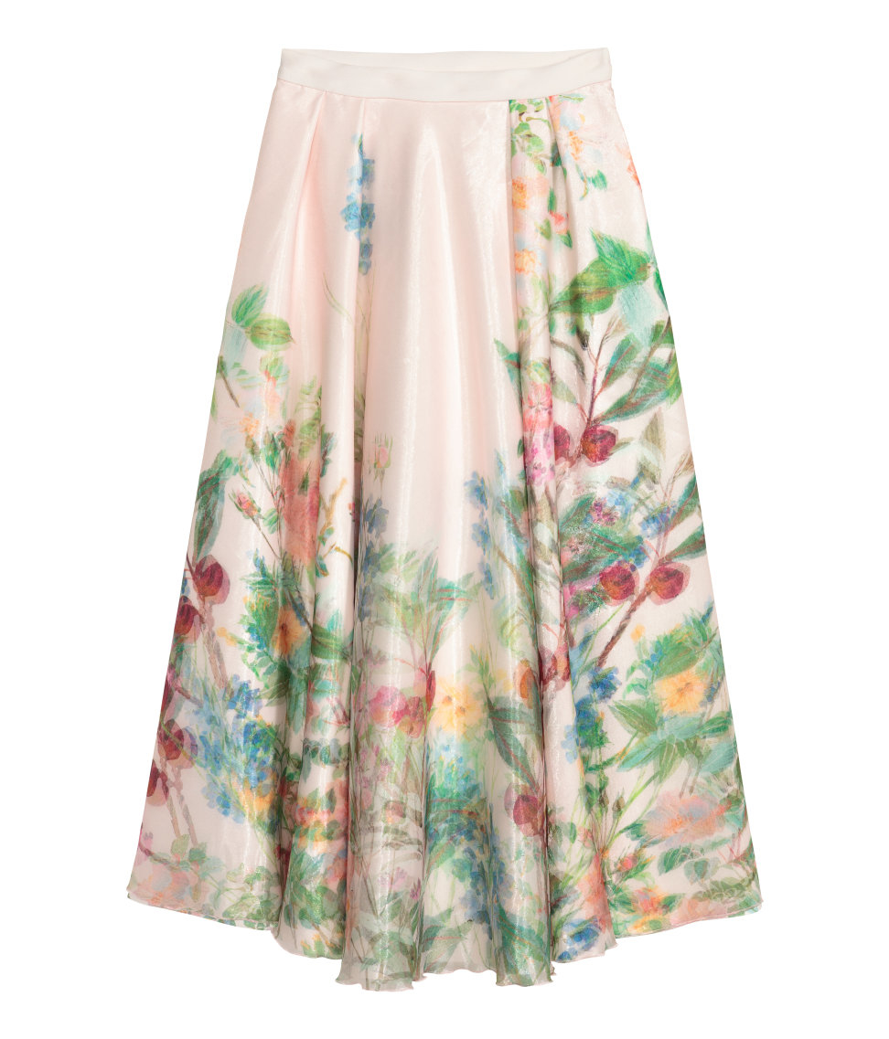 H m floral skirt for