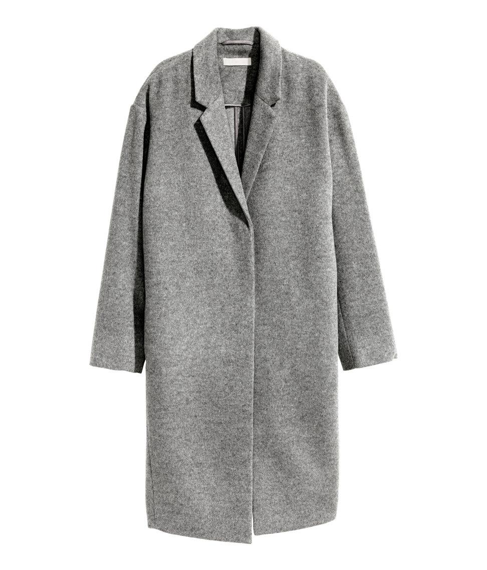 H&m Cashmere-blend Coat in Gray | Lyst