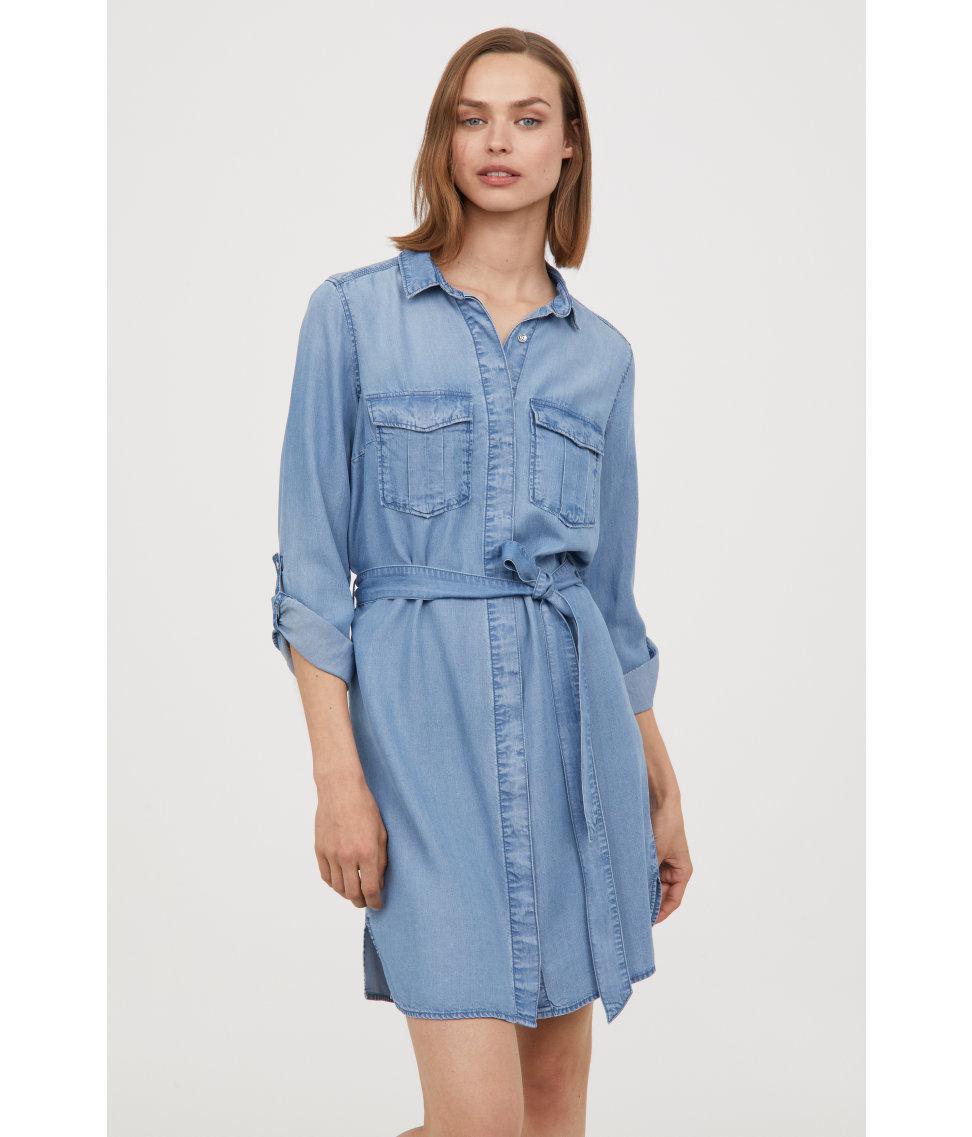 e2cc4cdb38a Denim Shirt Dress H M - DREAMWORKS
