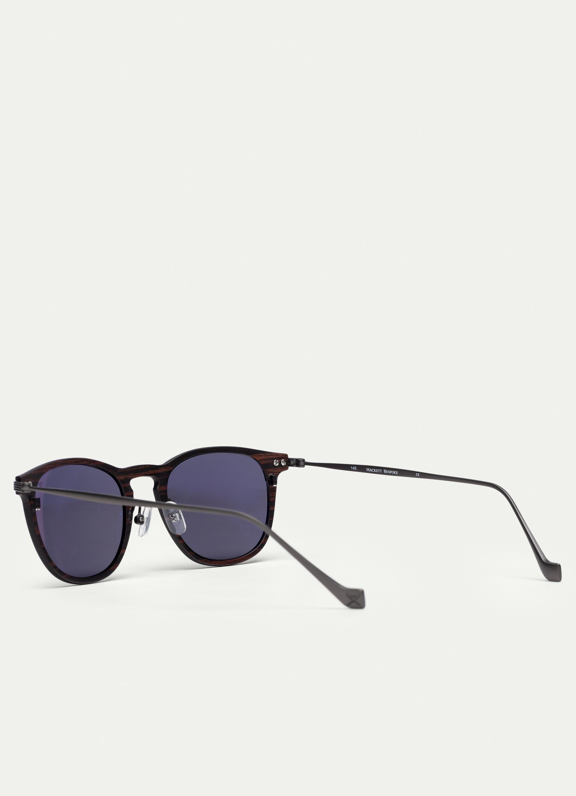 a12b9328e0a Hackett Keyhole Bridge Wood And Carbon Fibre Sunglasses in Black for ...