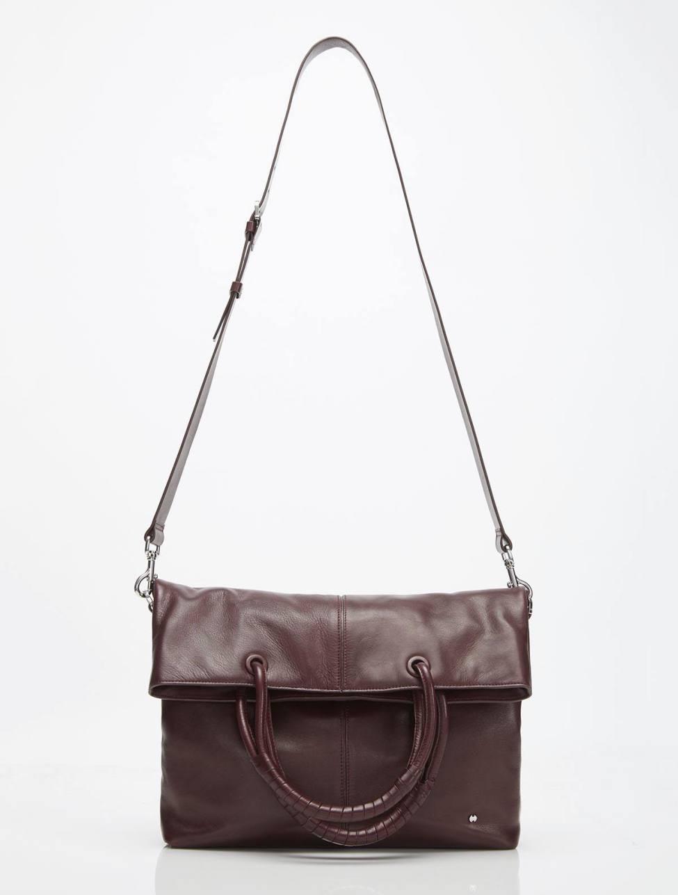 Halston Heritage Ali Soft Box Calf Leather Lg Foldover Tote - Lyst 0a088a5e8ef24