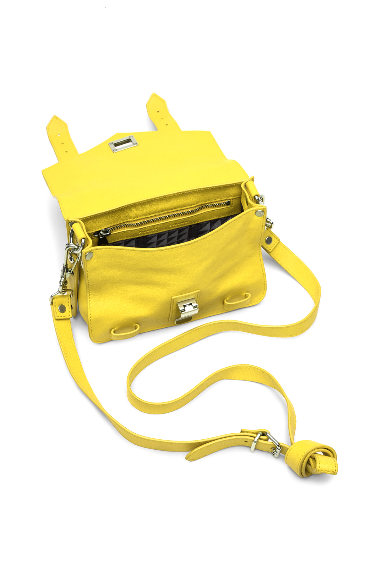Proenza Schouler Leather Ps1 Mini Crossbody In Absinthe in Yellow