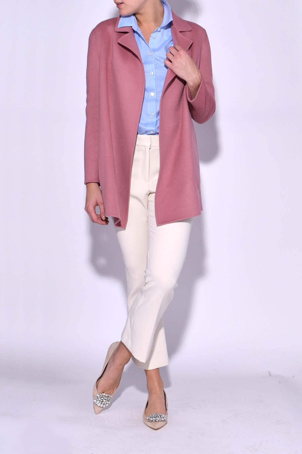 Theory Clairene Wool And Cashmere Blend Blazer In Pink Lyst