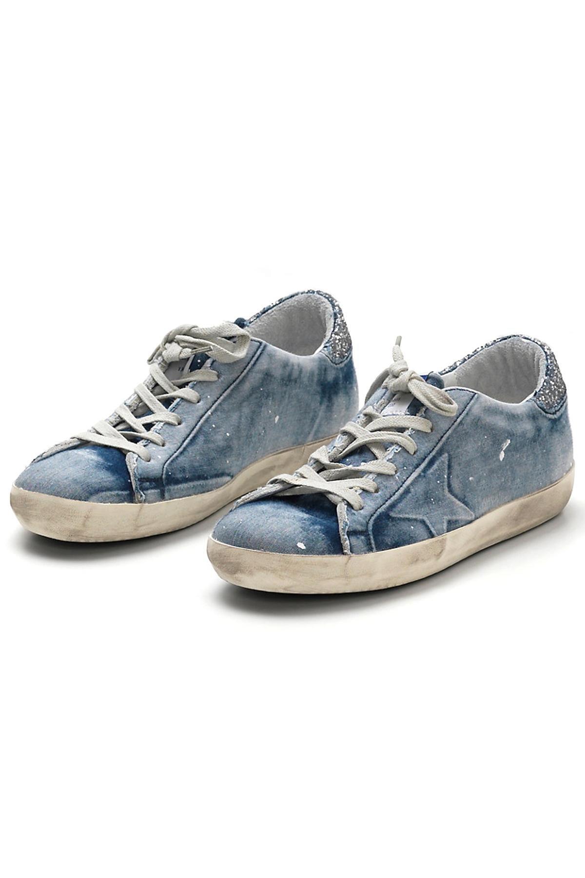fd5ea784b6f5c Golden Goose Deluxe Brand Superstar Denim Sneaker in Blue - Lyst