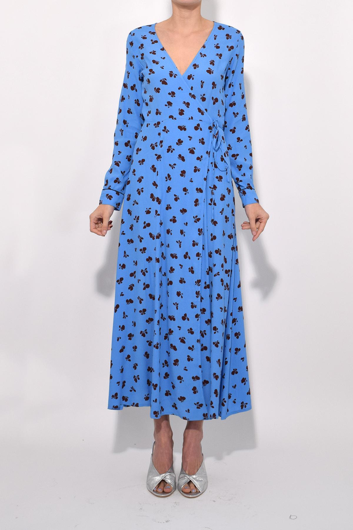 quite nice good out x new design Roseburg Crepe Wrap Dress In Marina
