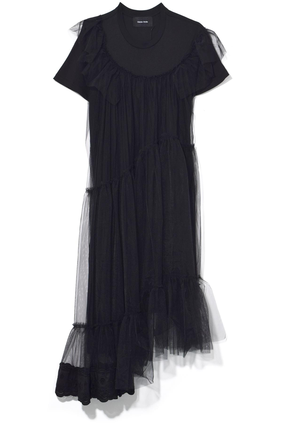 Rochas Woman Tulle-trimmed Crepe Gown Black Size 40 Rochas Ut1MNBbsi