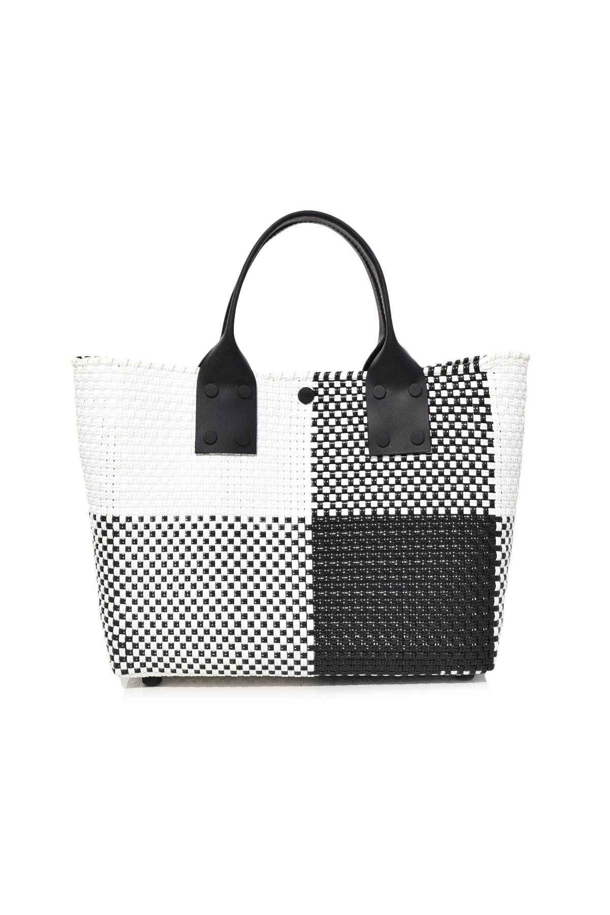 Truss Folded Tote With Leather Handles BWDxkTFk