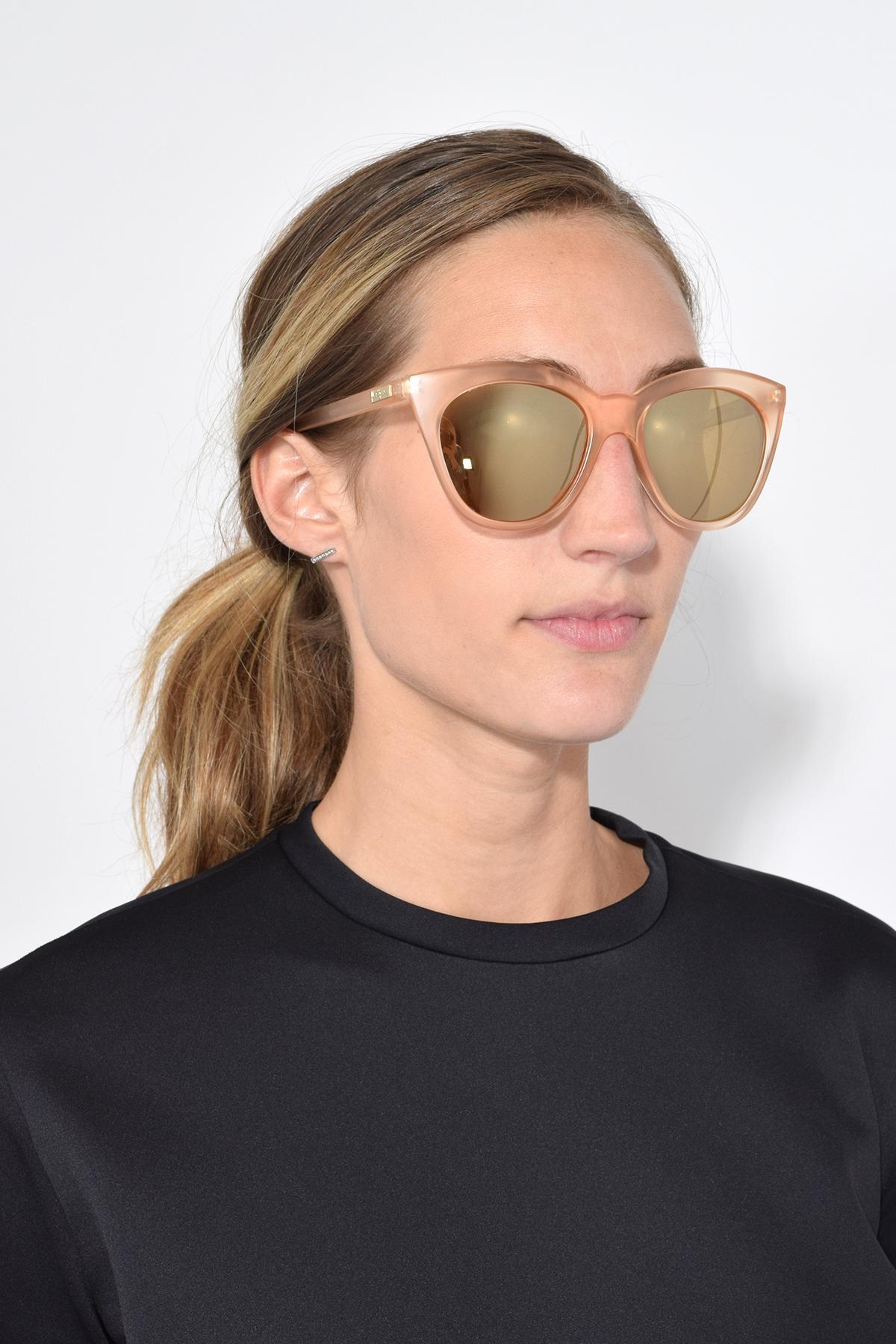 87d3f0c4c8 Lyst - Le Specs Halfmoon Magic Sunglasses In Raw Sugar