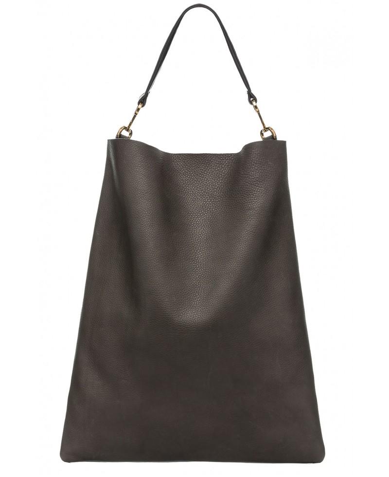 Marni Maxi Handle Shoulder Bag In Musk in Black | Lyst