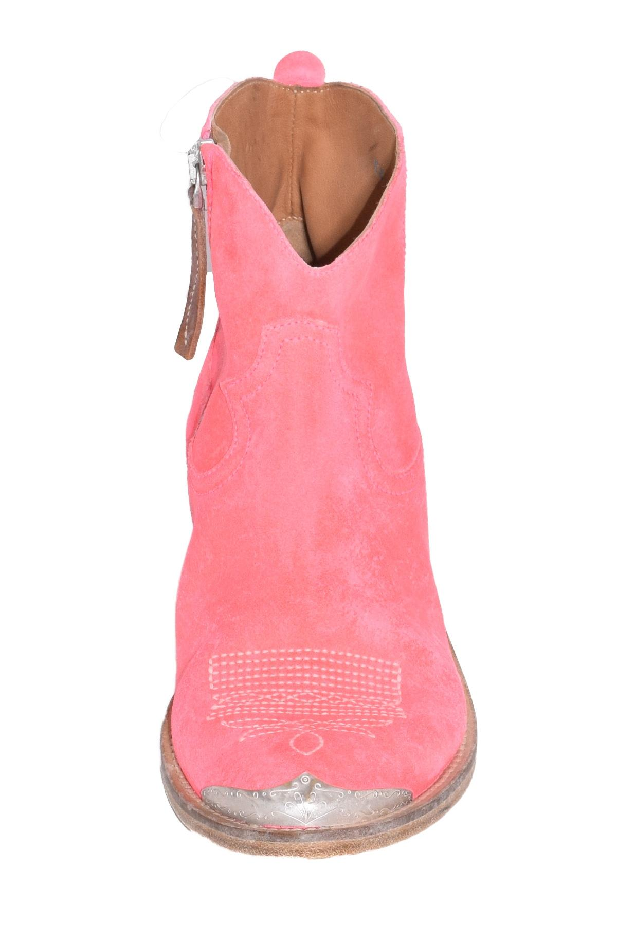 Young Boots In Pink Fluo Suede - Lyst