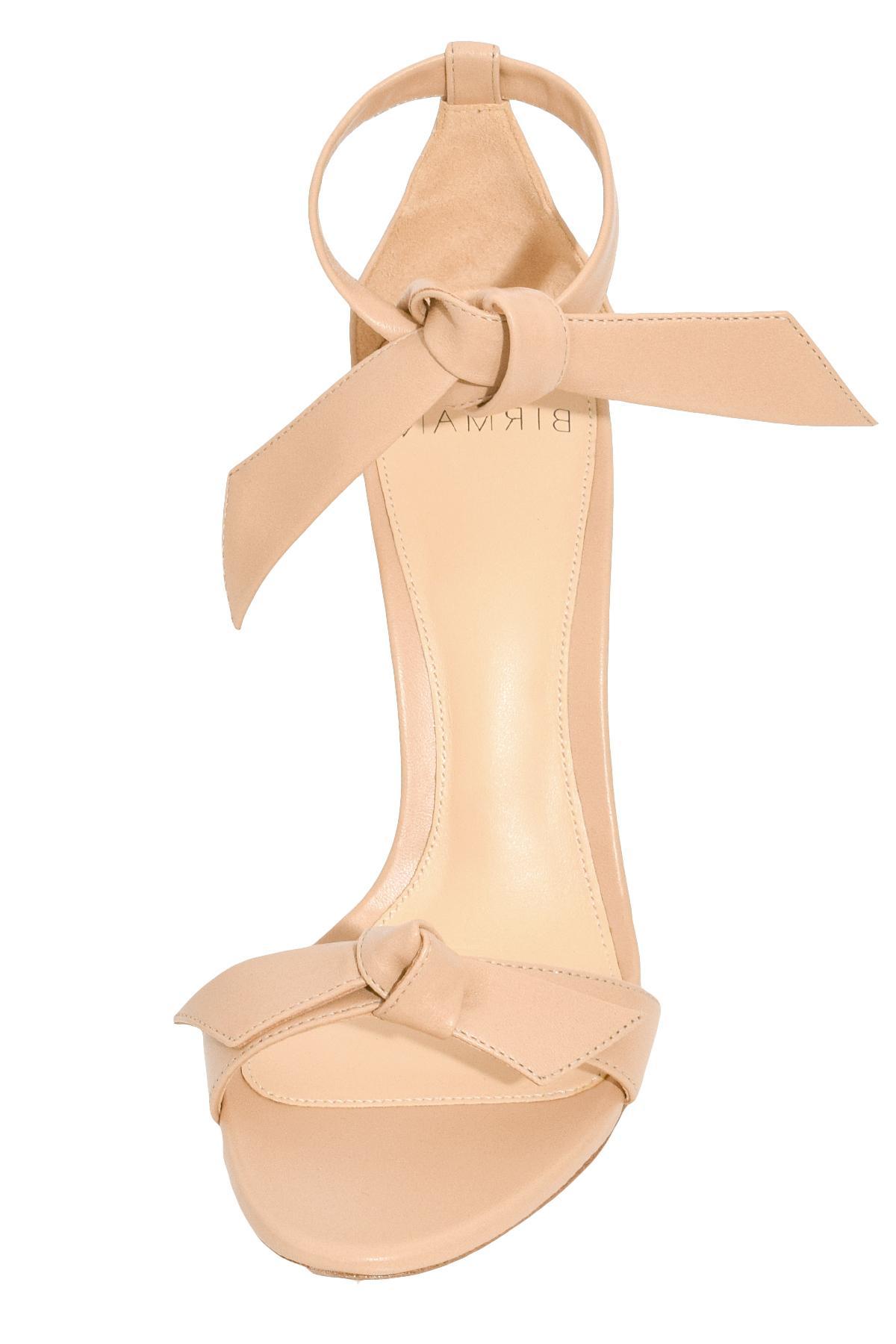 394a8bd5f5d6 Alexandre Birman - Natural Clarita Block Heel In Nude - Lyst. View  fullscreen