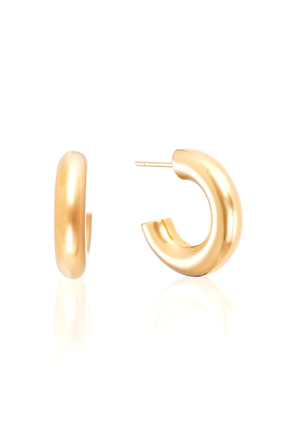 ea5a7981f Lyst - Otiumberg Mini Chunky Hoops In Gold in Metallic