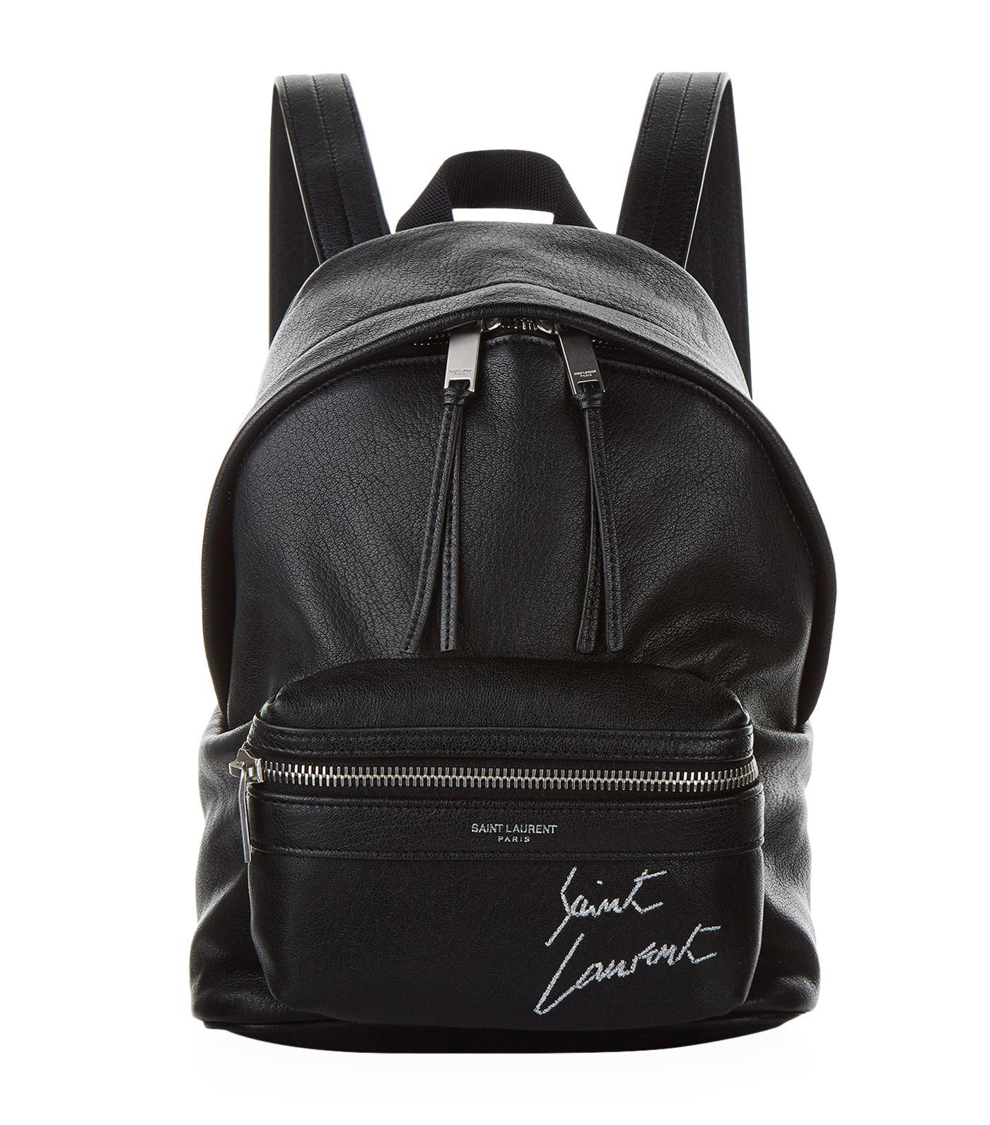 69b6da2a5 Saint Laurent Mini Embroidered Toy City Backpack in Black - Lyst