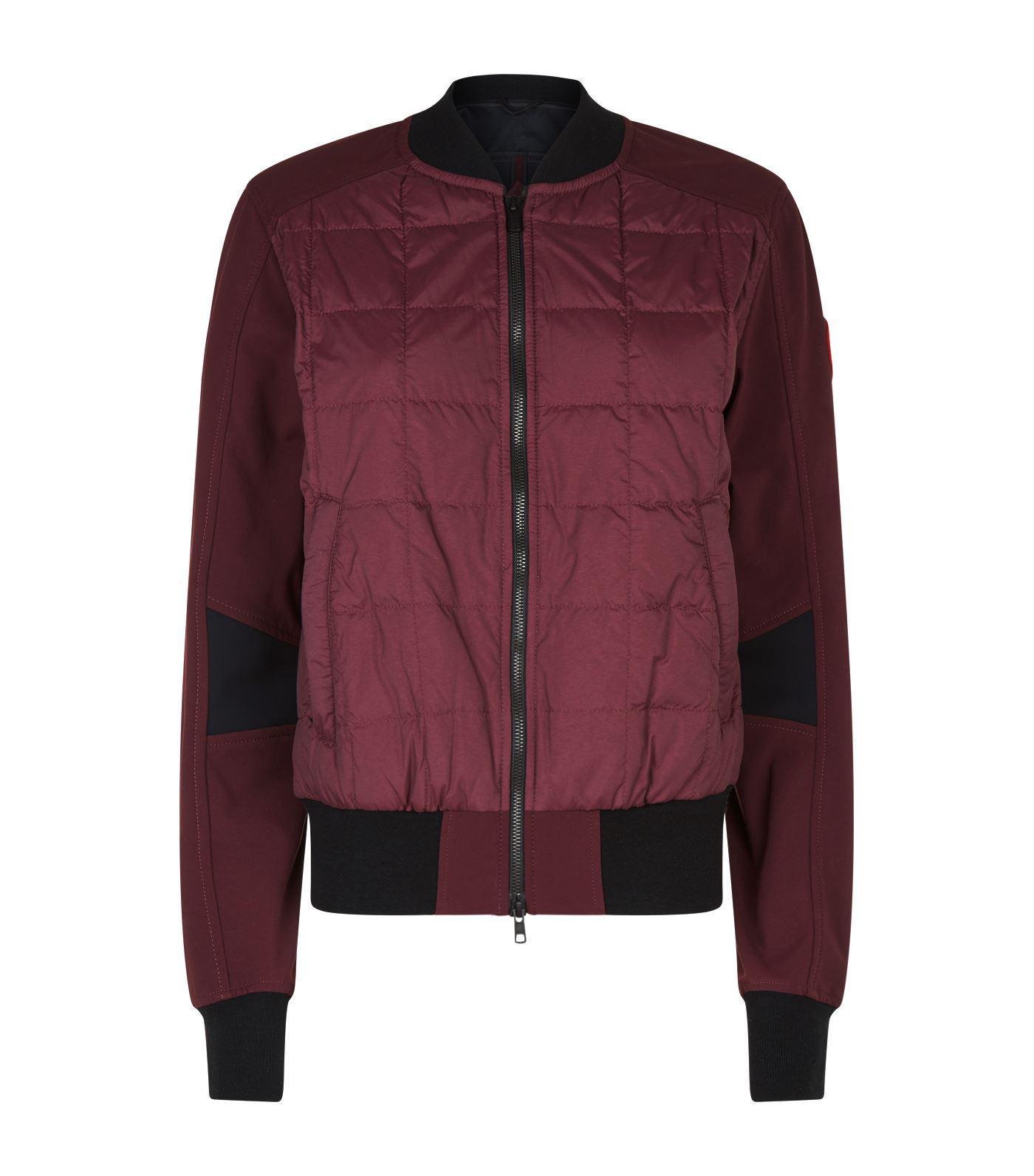lyst canada goose hanley bomber jacket in purple for men rh lyst com