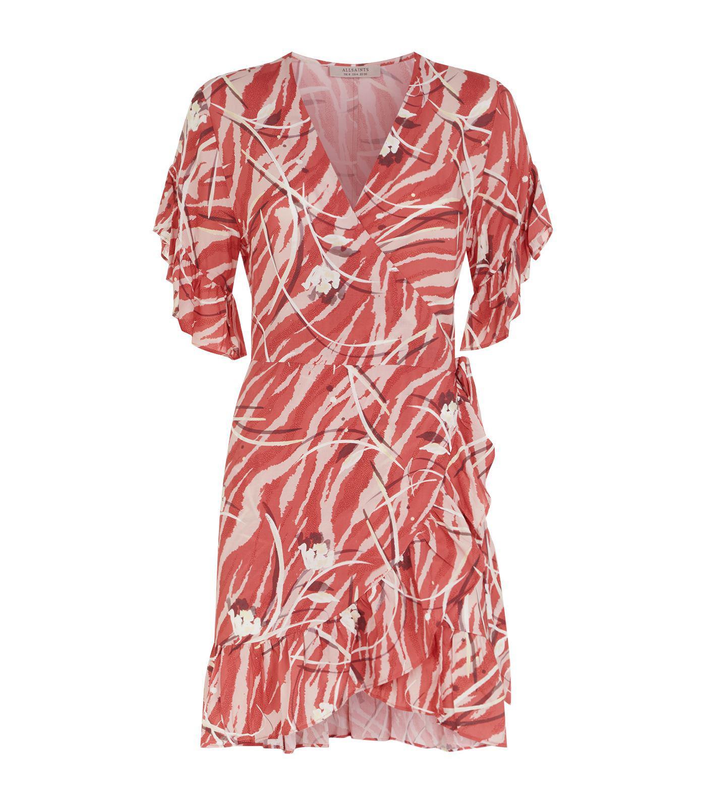Allsaints Marlow Kazuno Dress In Red Lyst