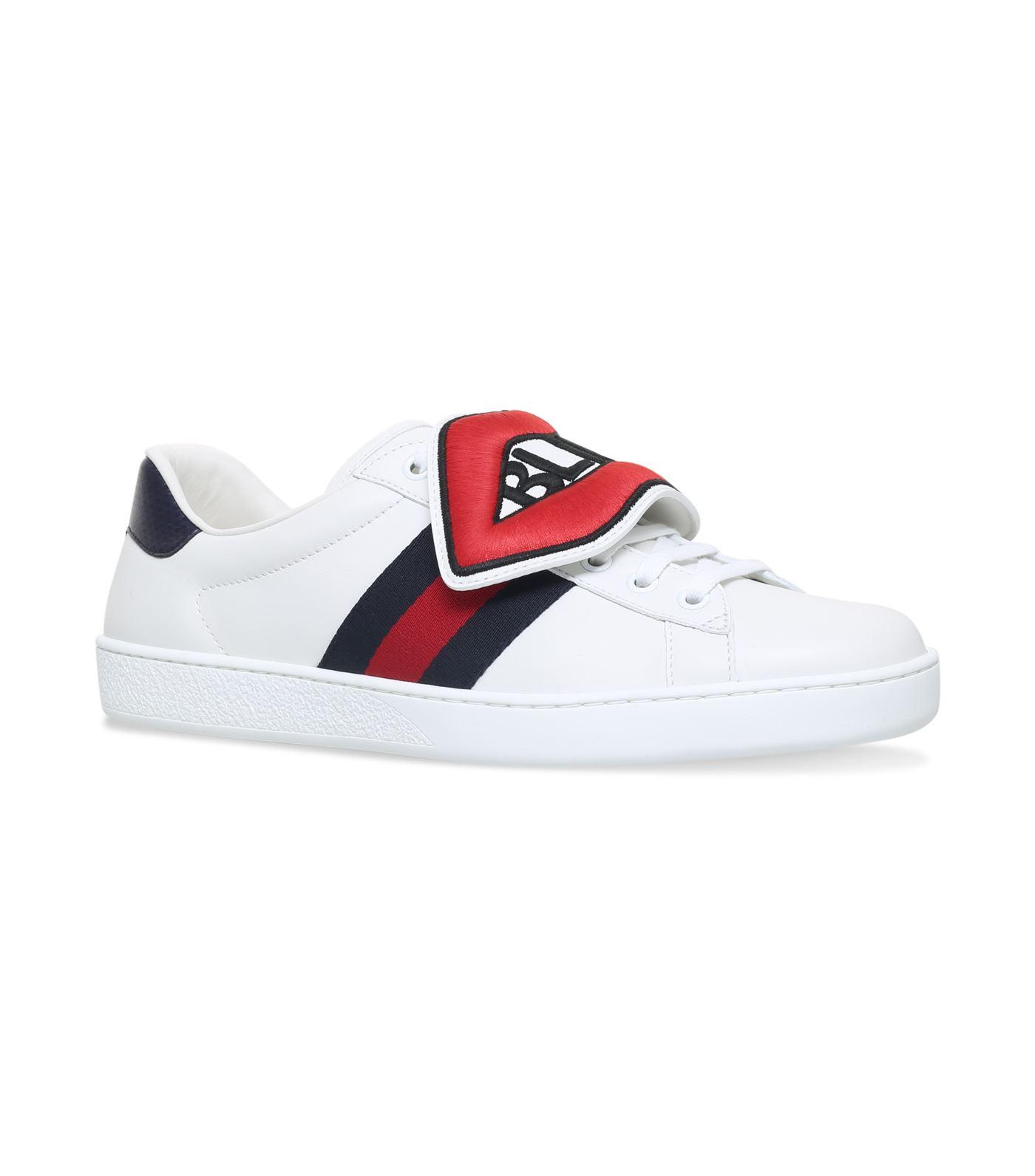 Gucci Leather Lips Ace Sneakers in