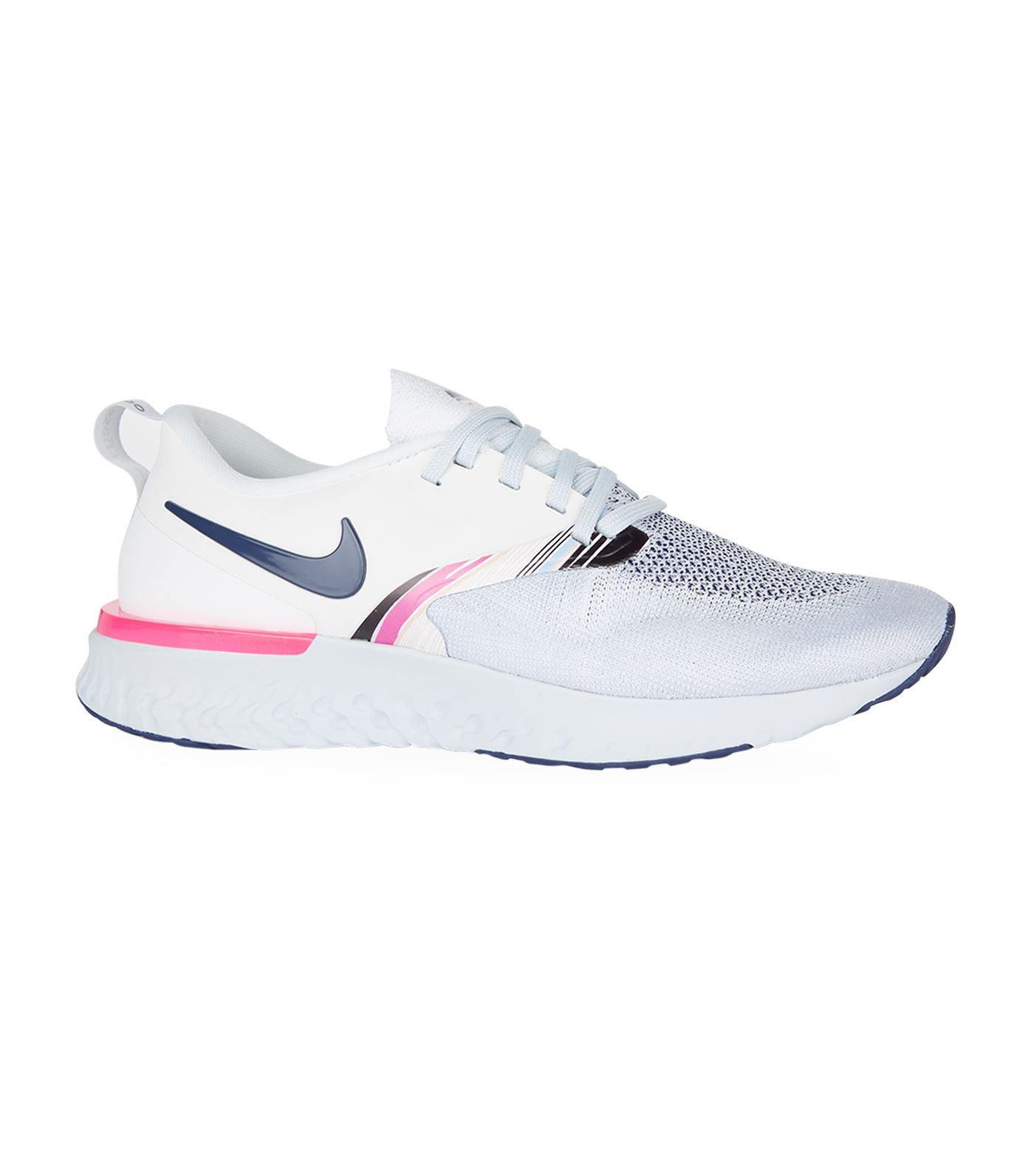 f7800e4ec0646 Nike Odyssey React 2 Flyknit Trainers in White - Lyst