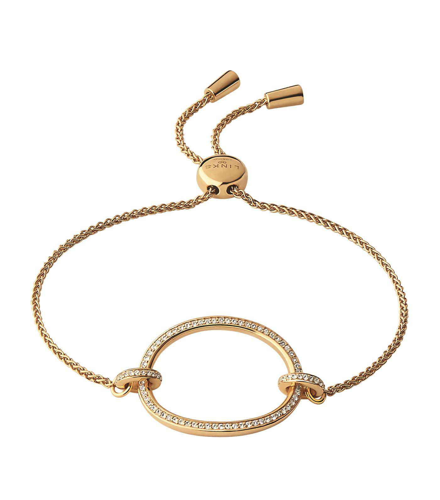 Links Of London Yellow Gold Vermeil And White Topaz Ovals Toggle Bracelet In Metallic Lyst