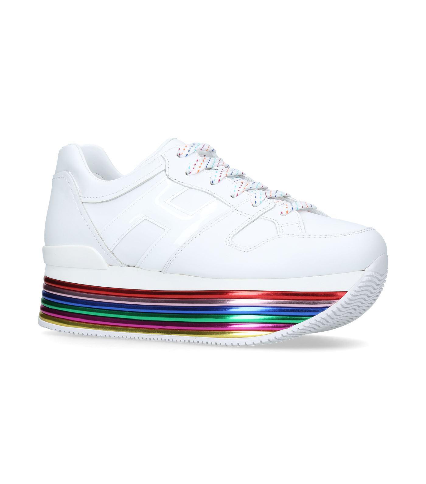 Hogan Maxi 222 Mignon Leather Sneaker in White for Men - Lyst
