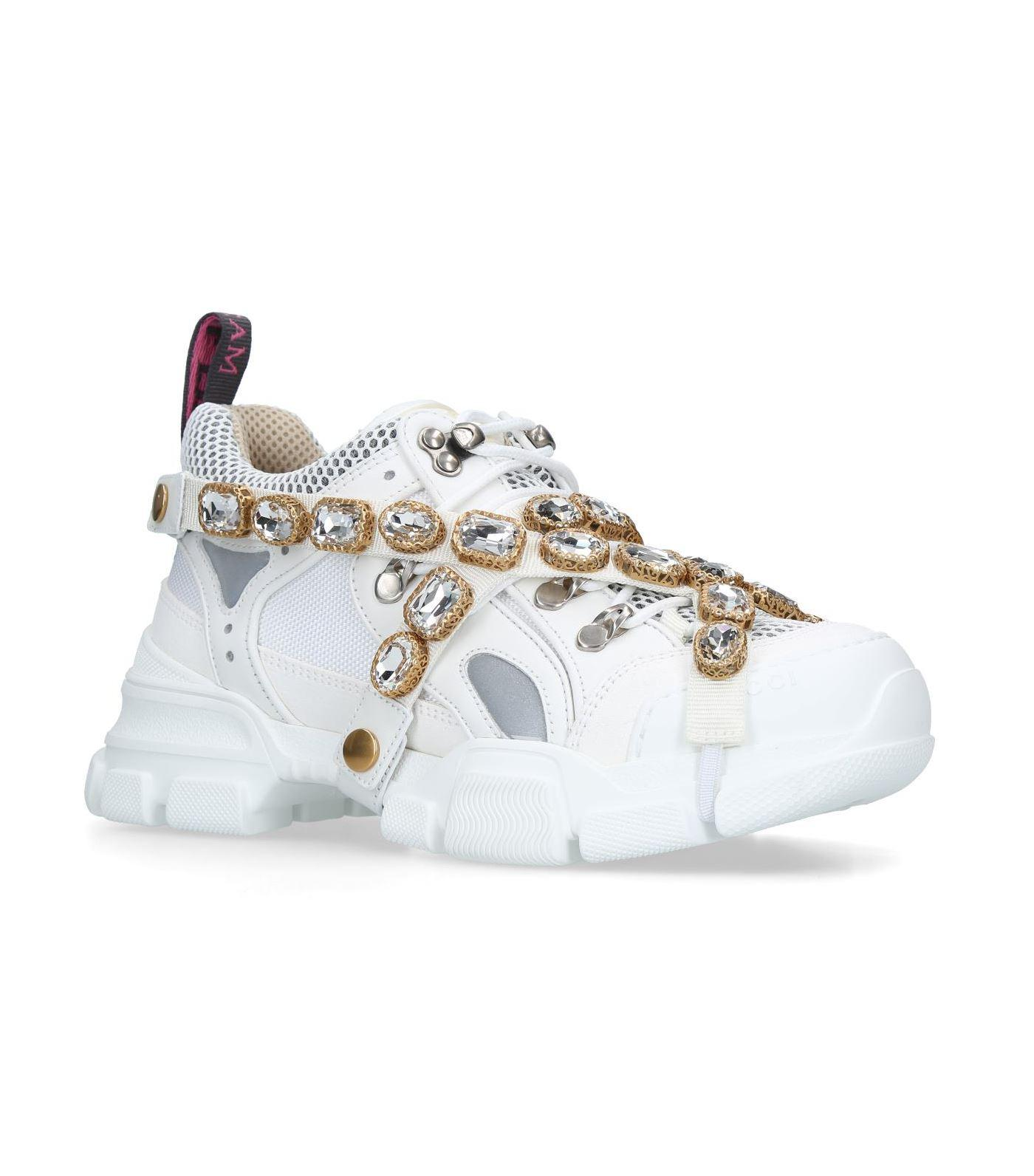 1ff6c6c5af6 Lyst - Gucci Flashtrek Sneakers in White