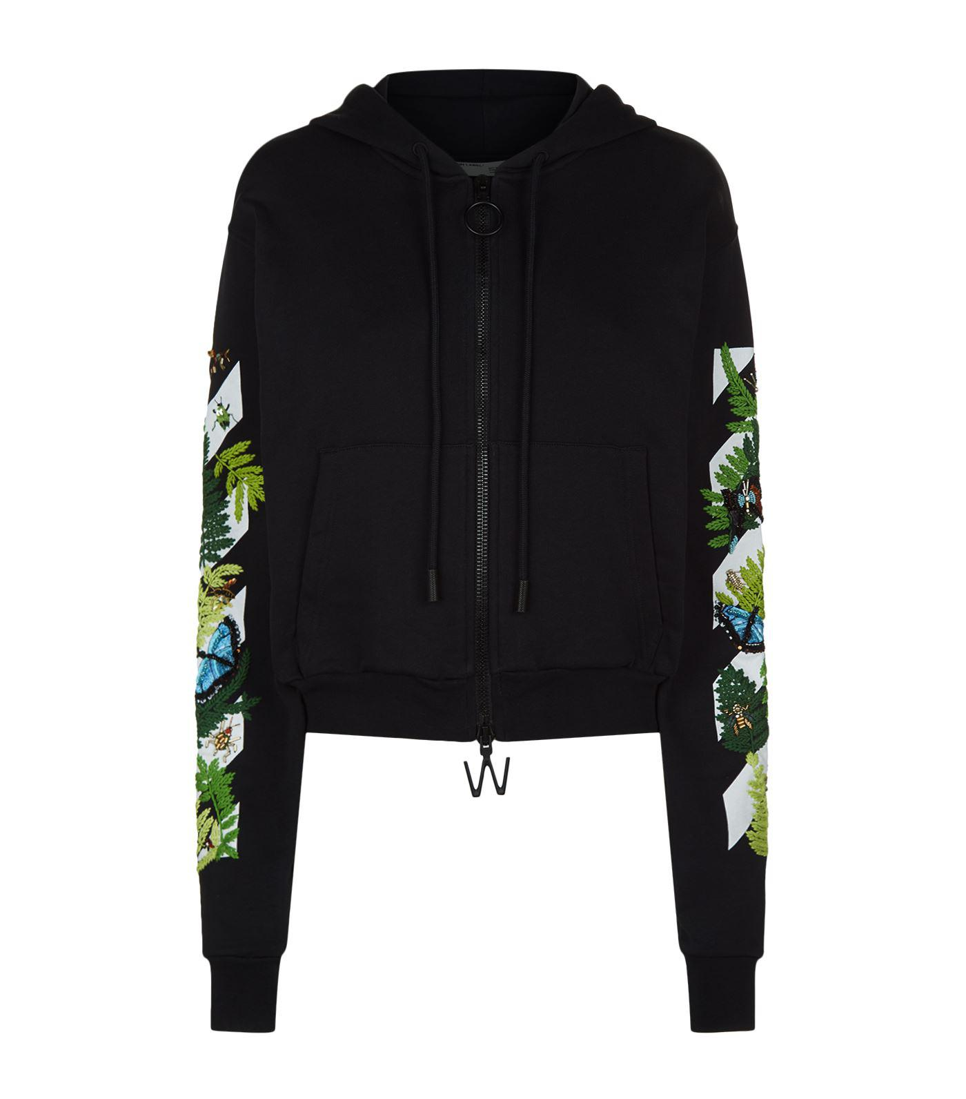 a6e84d233f078 Lyst - Off-white c o virgil abloh Fern Embellished Hoodie