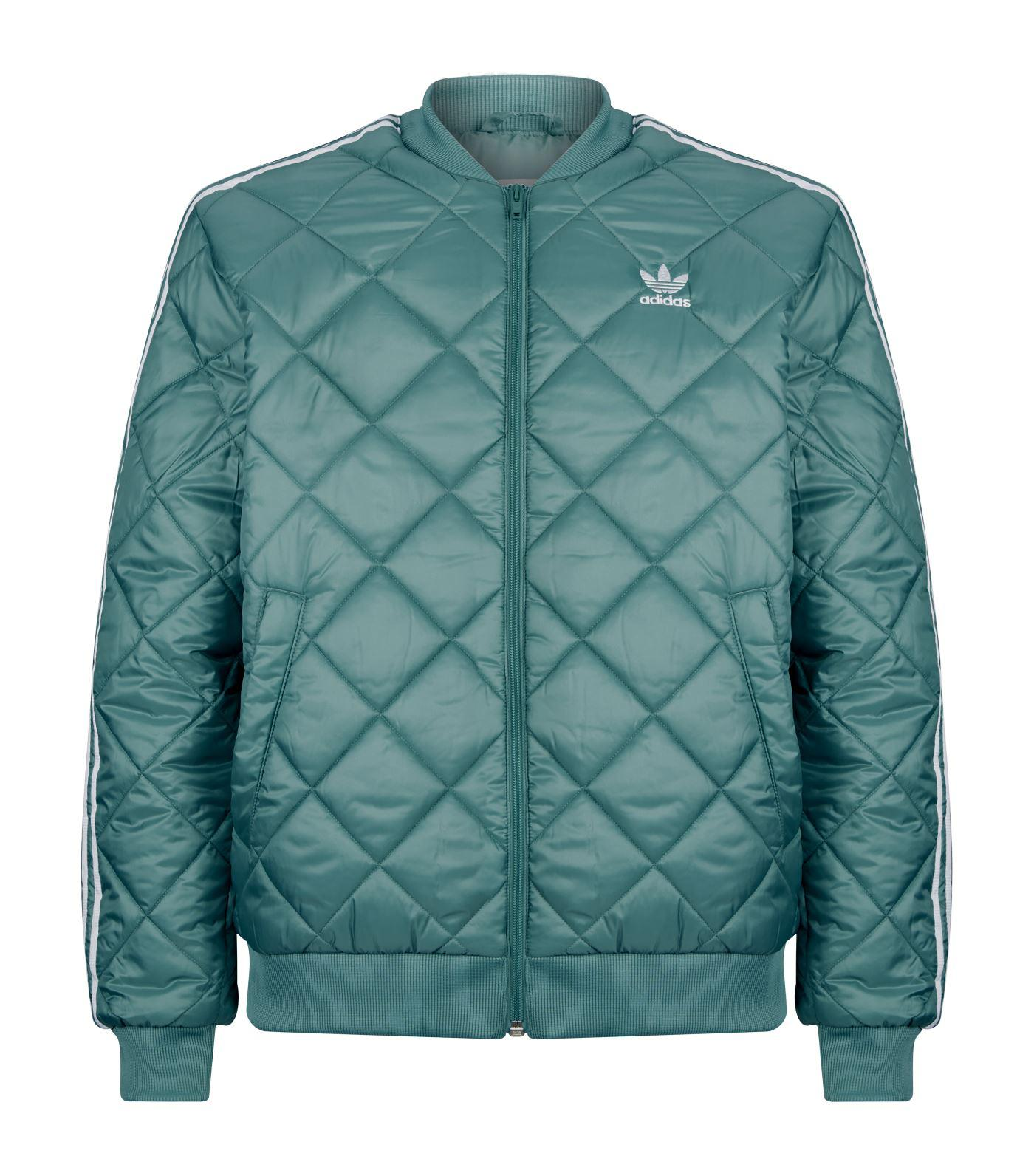Observación tal vez jueves  adidas Originals Quilted Sst Jacket in Green for Men - Lyst