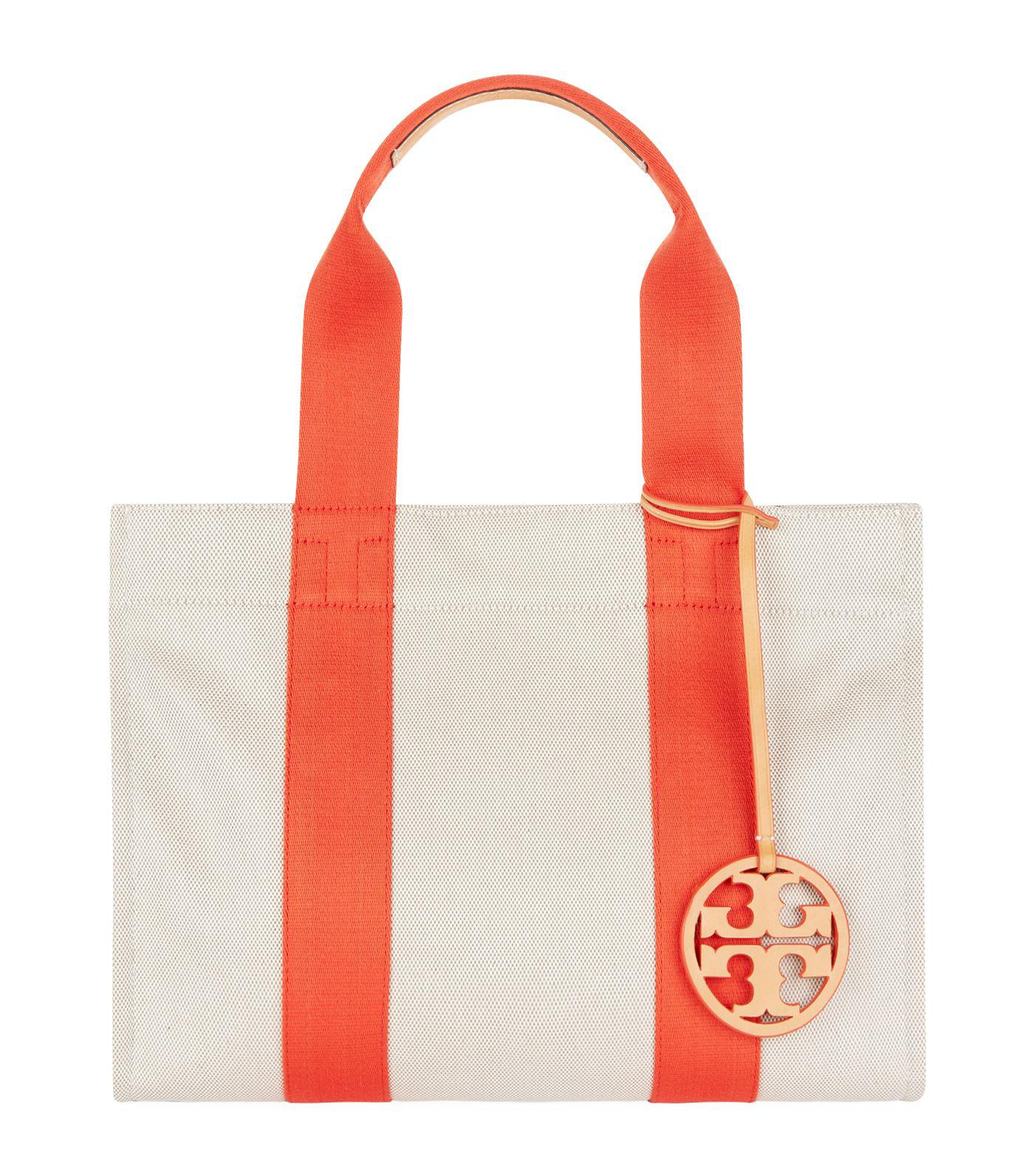 6e156f1d761 Tory Burch Miller Canvas Tote Bag, Beige, One Size in Natural - Lyst
