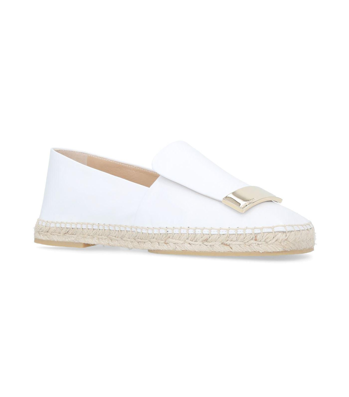 Flat Moccasin Espadrilles in Black Royal Leather Sergio Rossi Clearance Shop Discount Real Discount With Mastercard Cheap Sale How Much dKigc1OL