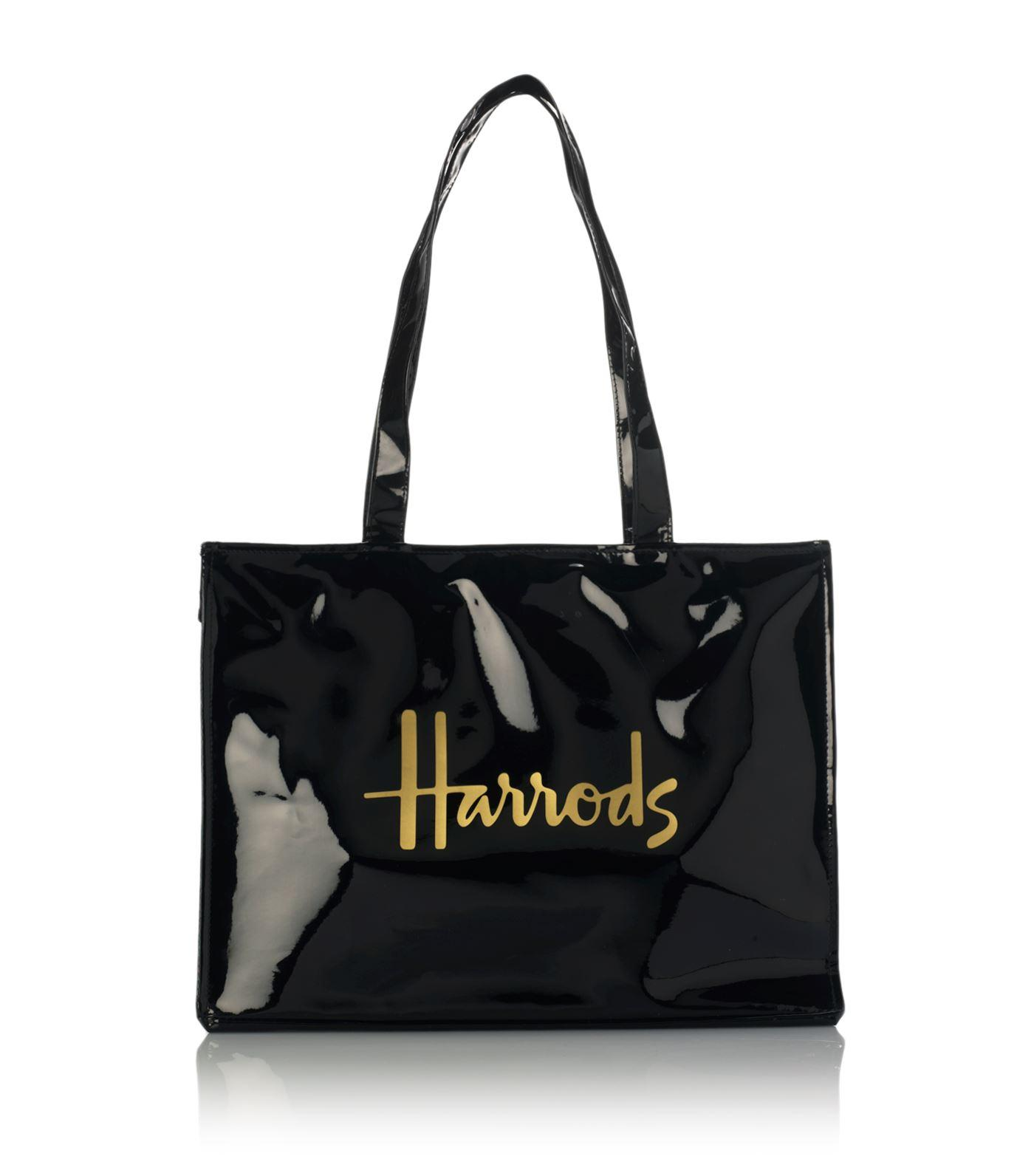 Harrods Signature Logo Tote Bag In Black Save 9 Lyst