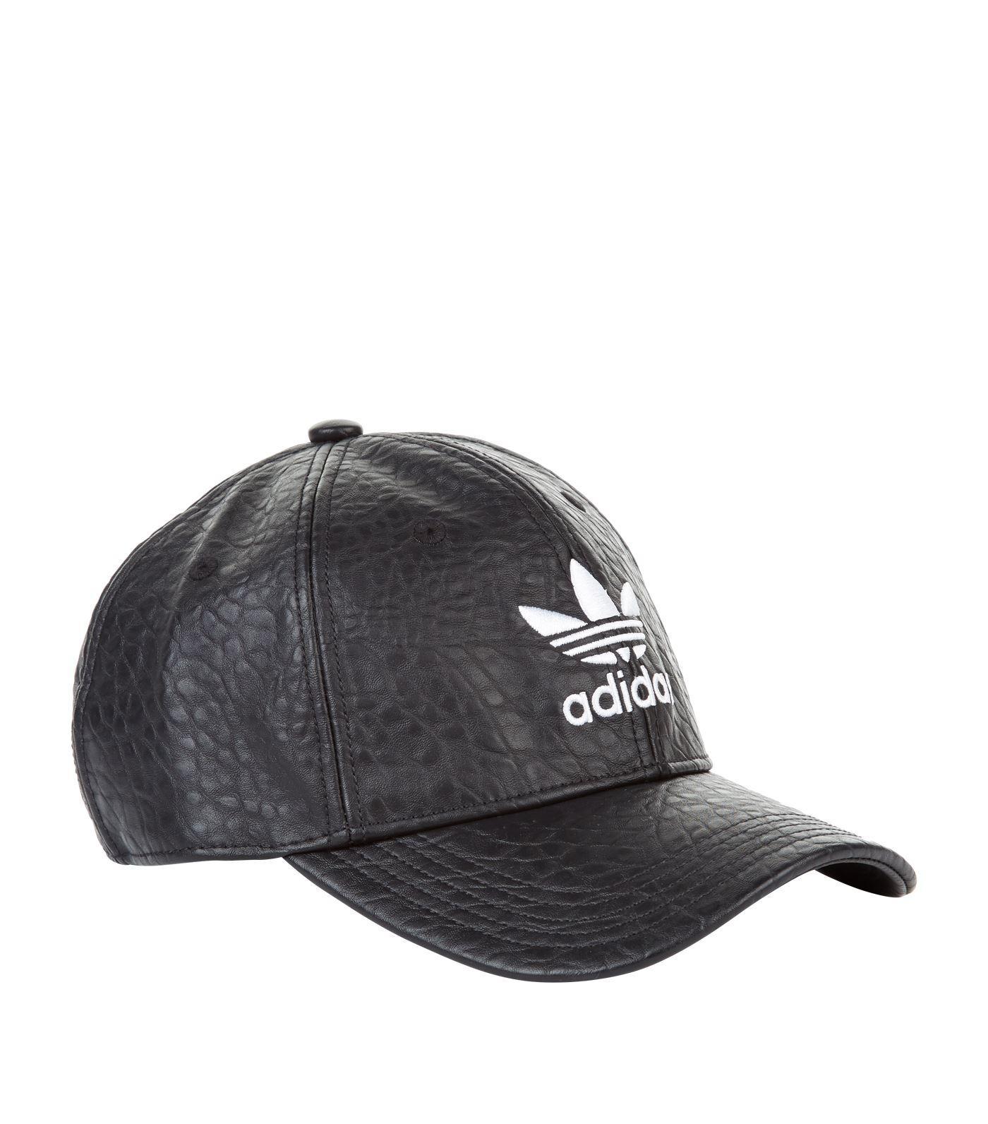 48fa970b0e266 Lyst - adidas Originals Logo Embossed Cap in Black for Men