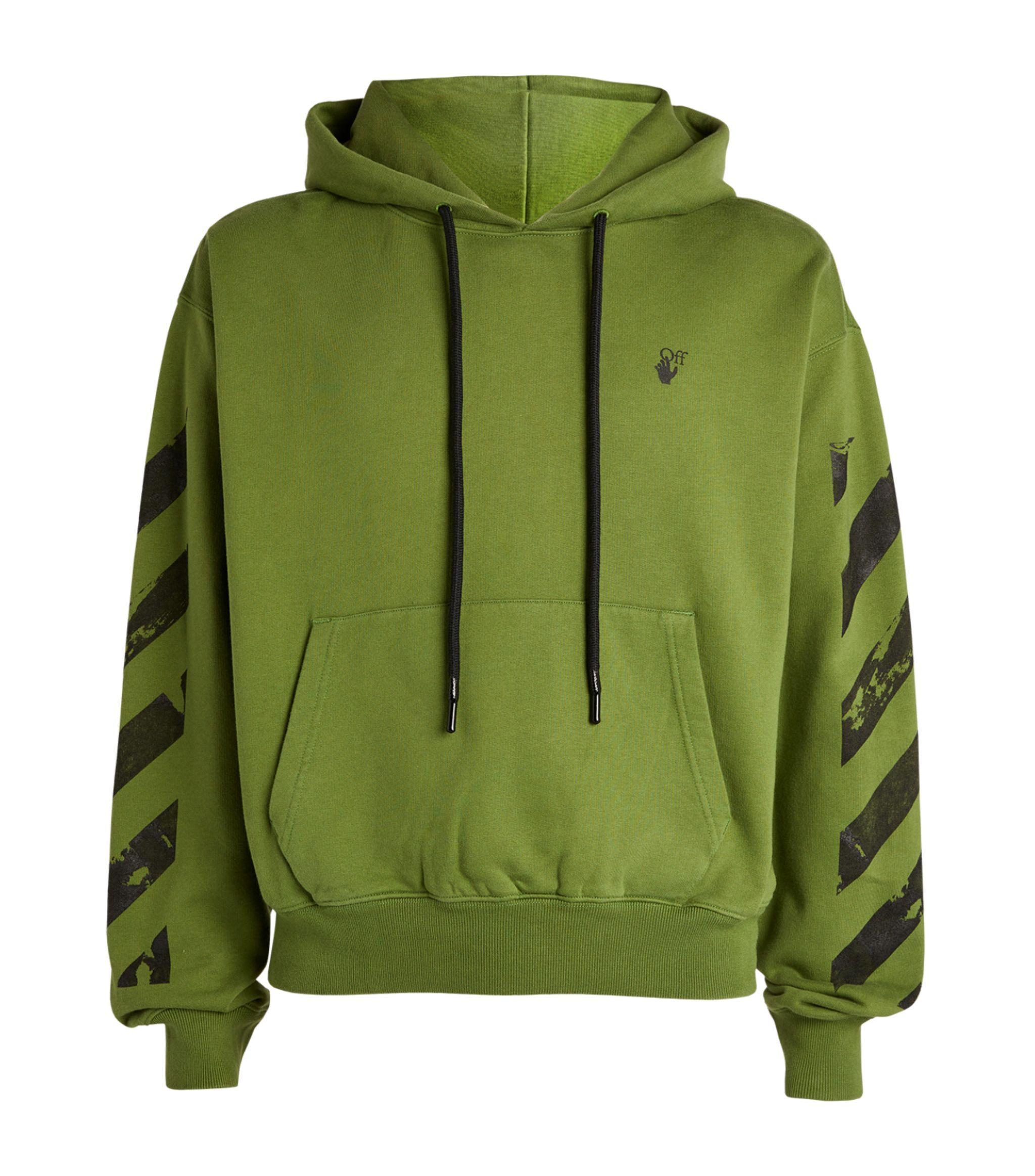 OFF-WHITE c//o Virgil Abloh Green Fance Arrows Hooded Sweatshirt