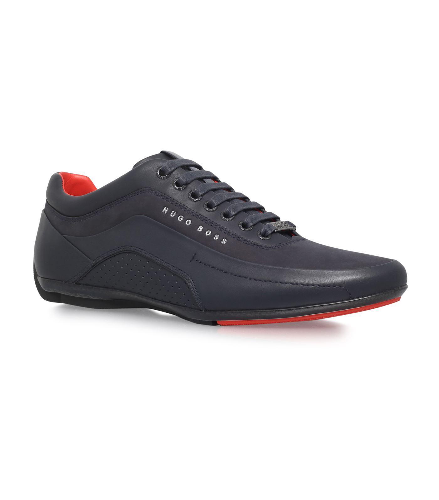 Hugo Boss Leather Racing Sneakers