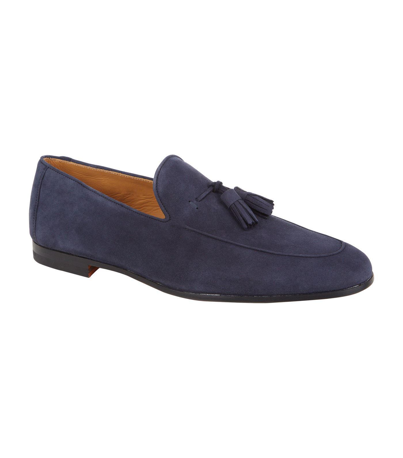 3505d6642de Lyst - Magnanni Suede Tassel Loafer in Blue for Men - Save 23%